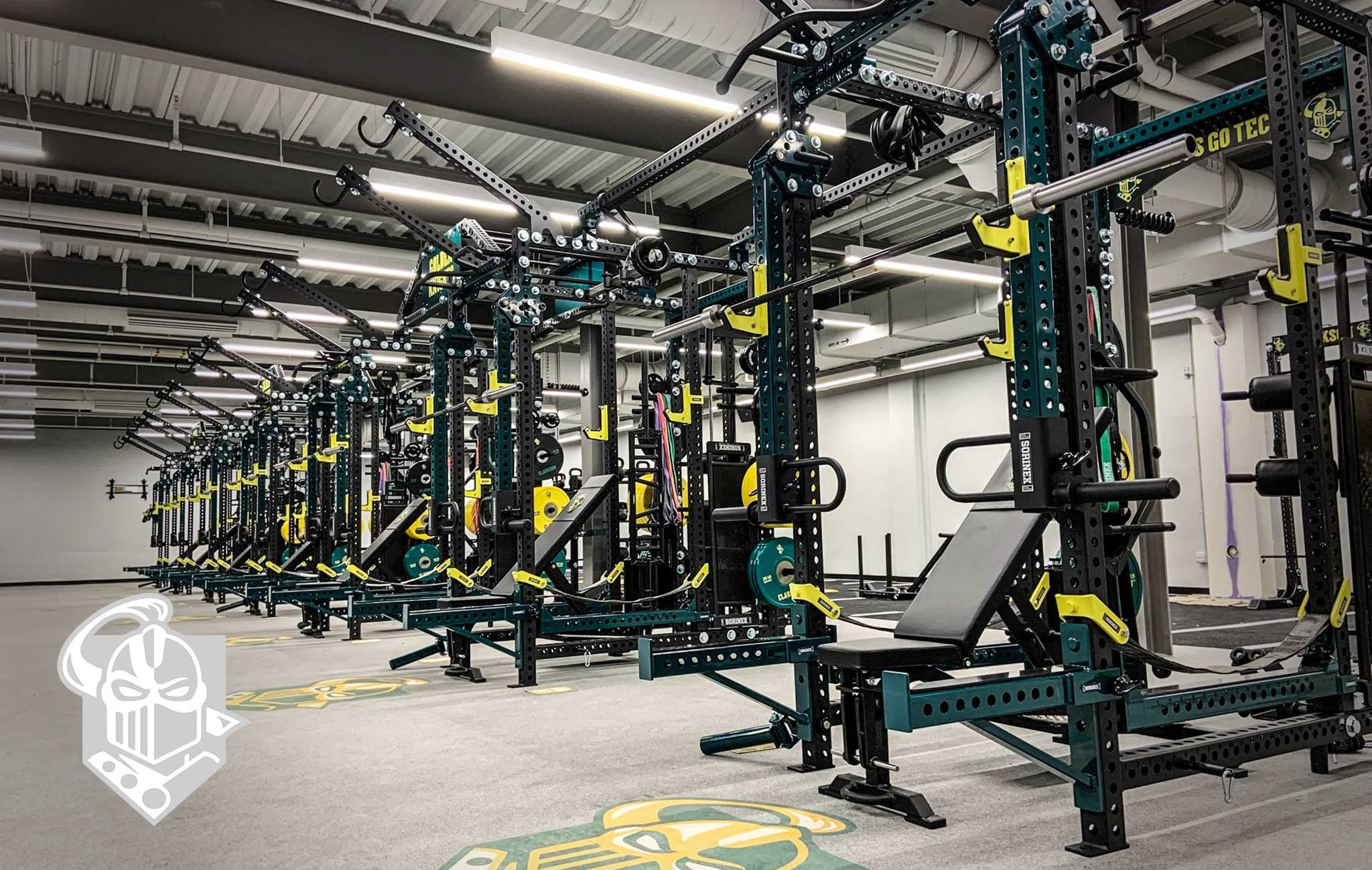 Clarckson University Sorinex strength and conditioning facility