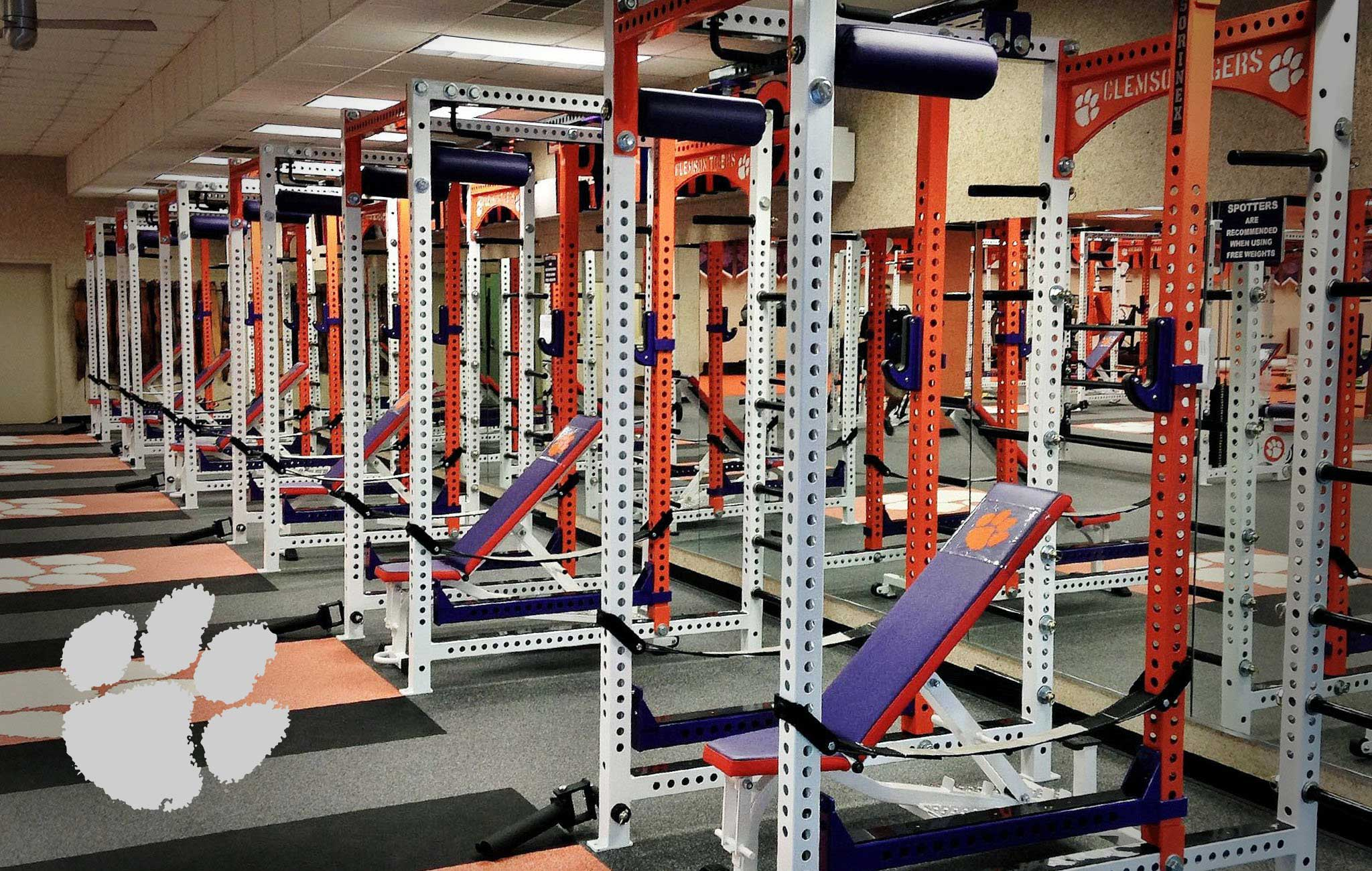 Clemson University Sorinex strength and conditioning facility