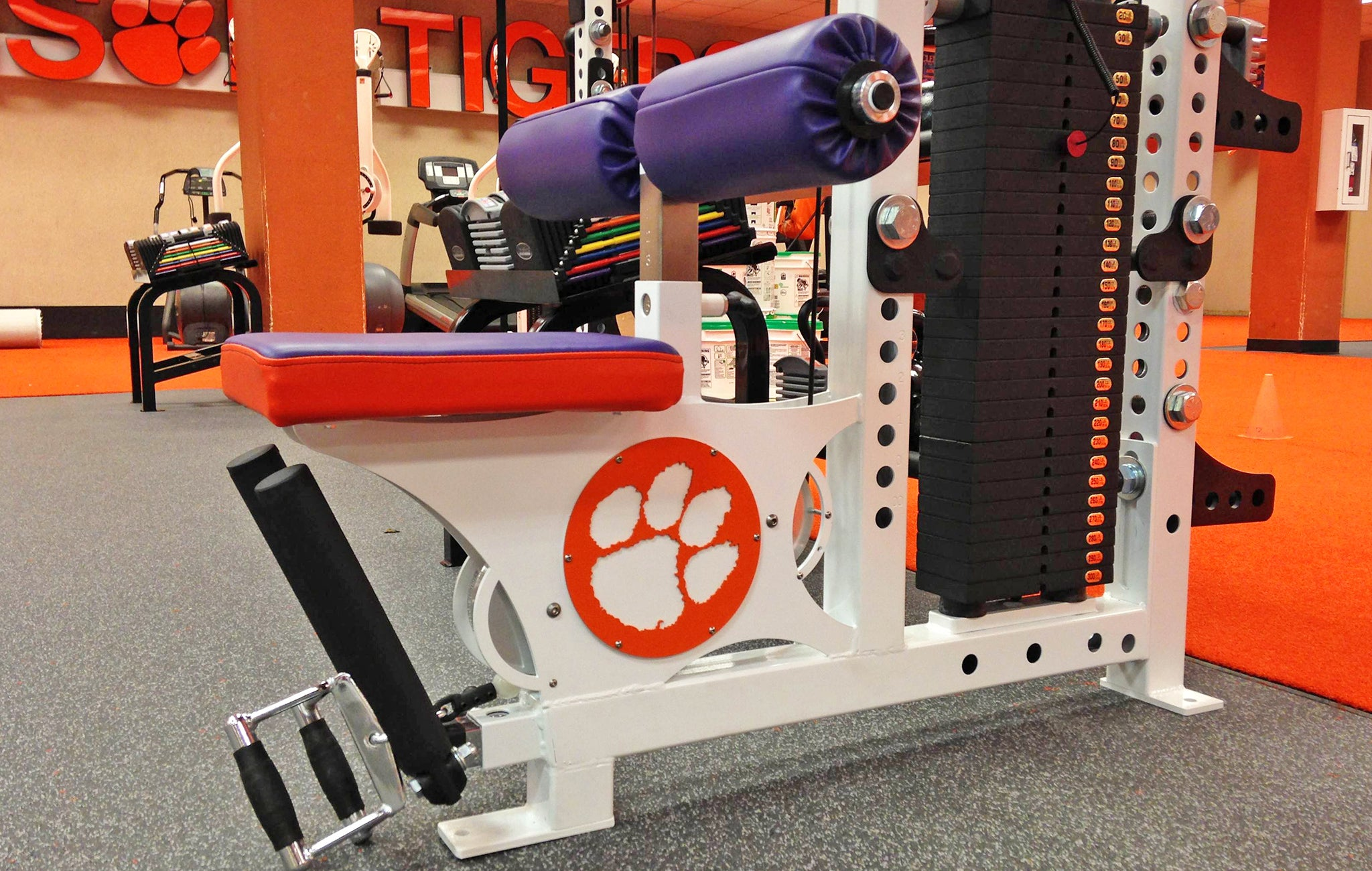 Clemson University weight room