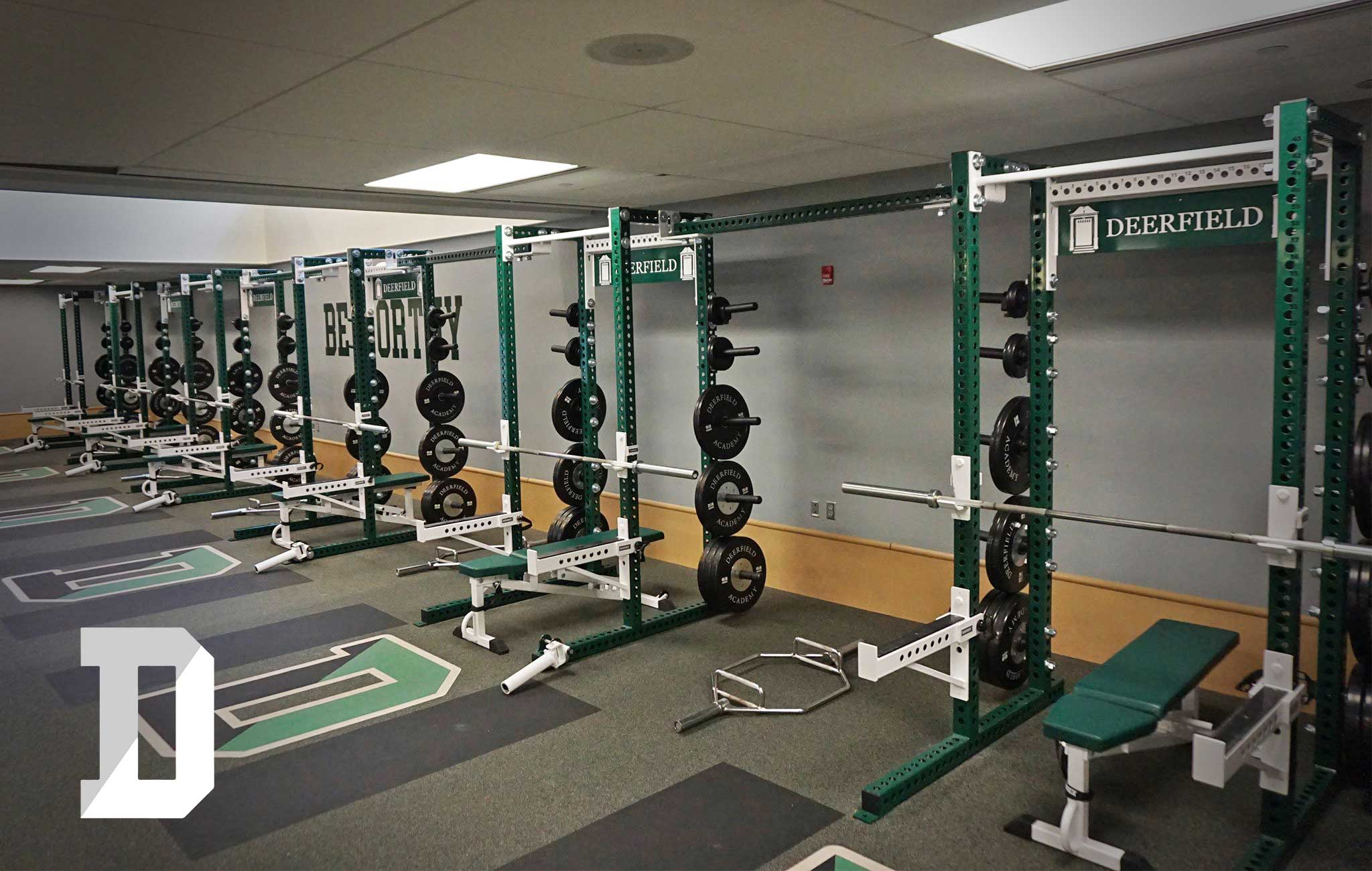 Deerfield Academy Sorinex strength and conditioning facility