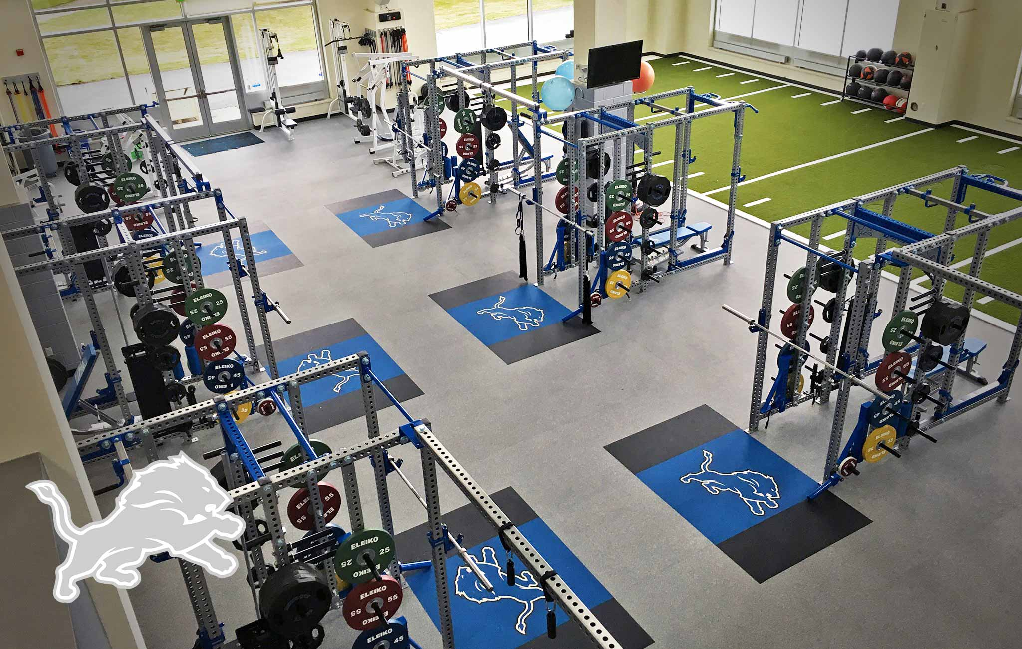 Detroit Lions Sorinex strength and conditioning facility