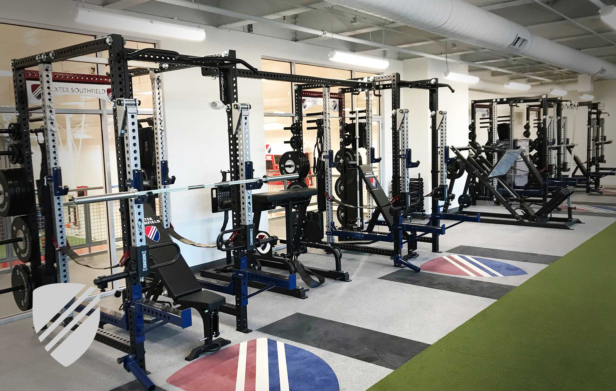 Dexter Southfield High School Sorinex strength and conditioning facility