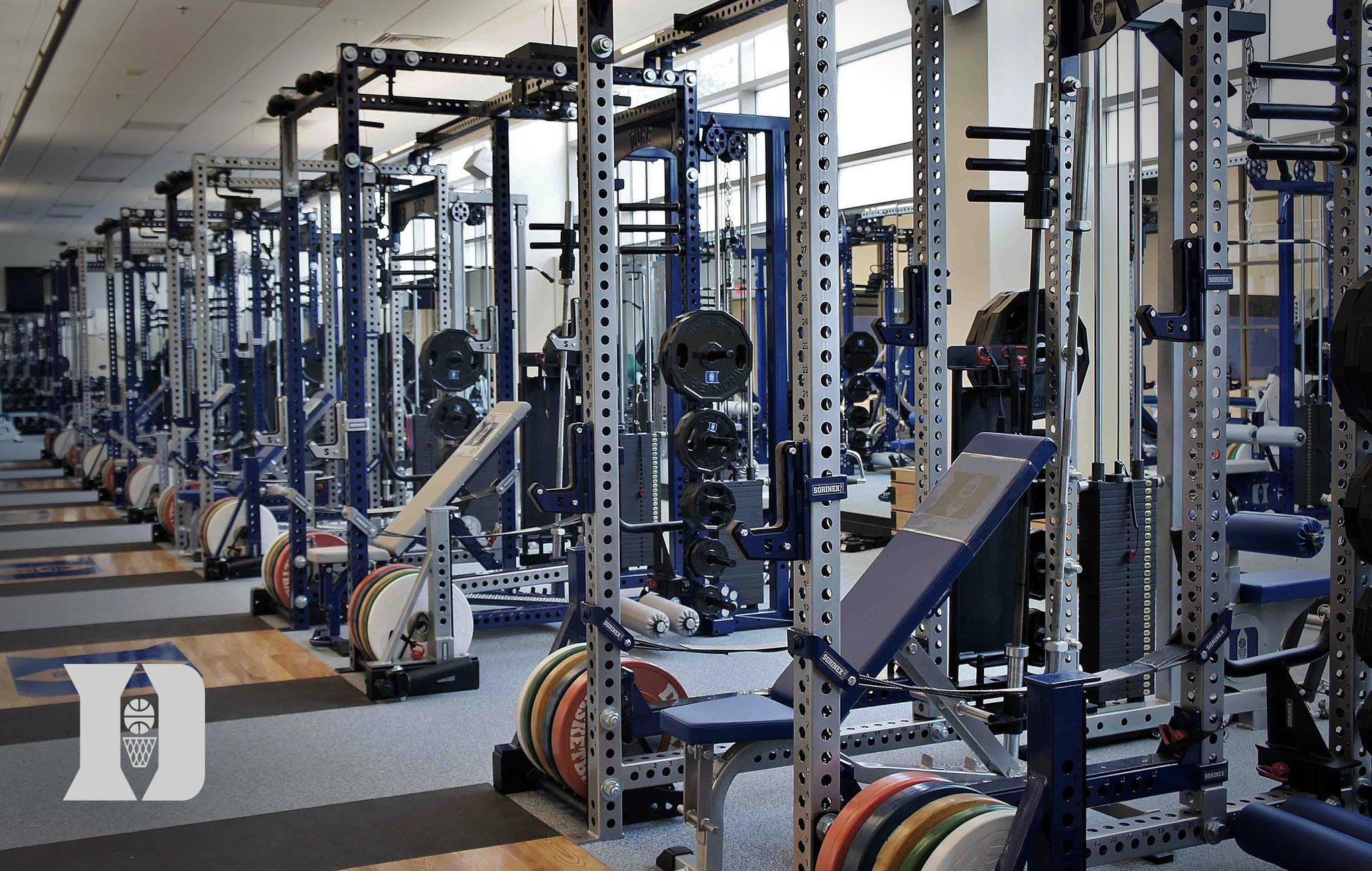 Duke basketball Sorinex strength and conditioning facility