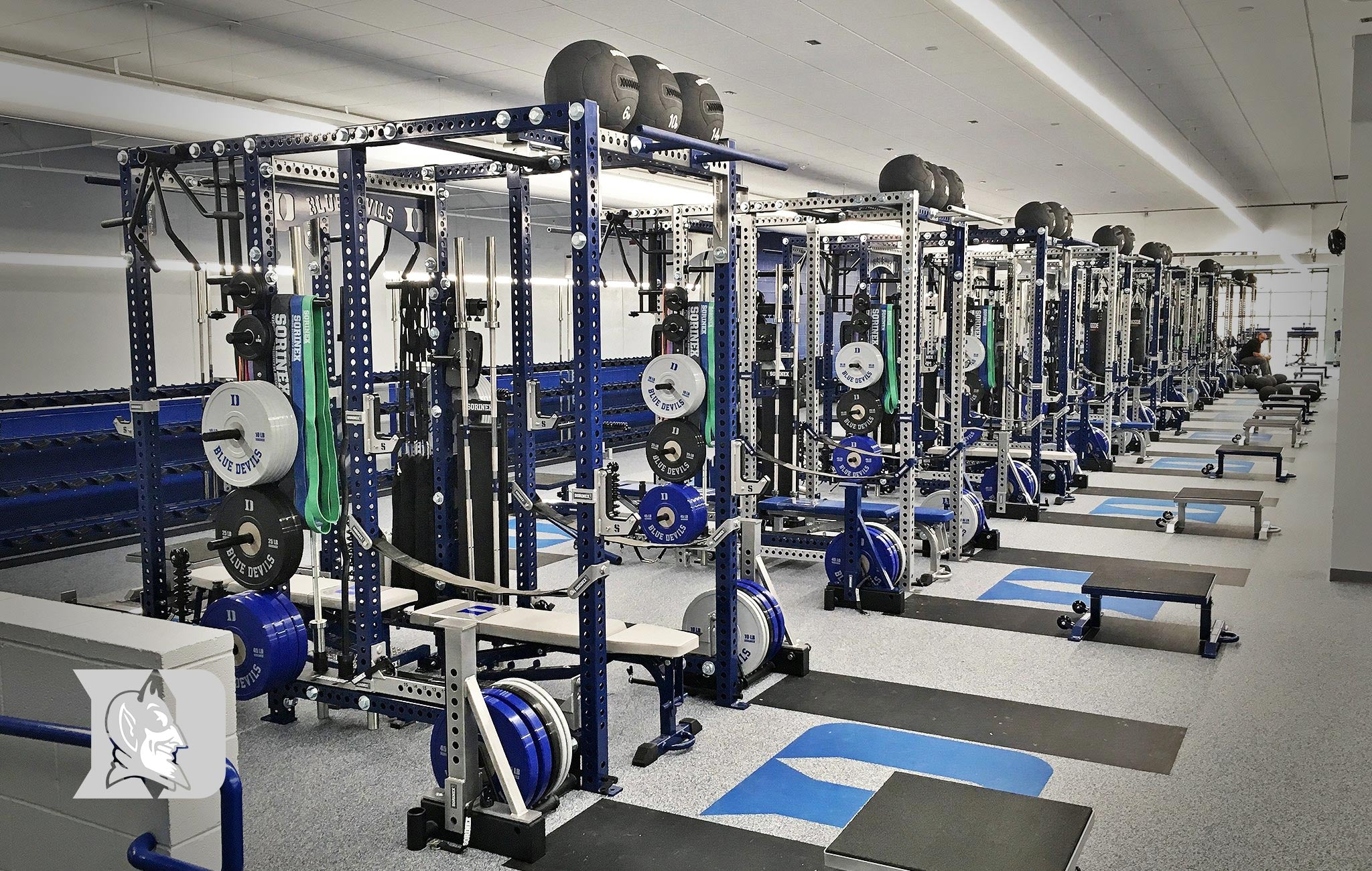 Duke Olympic Sorinex strength and conditioning facility