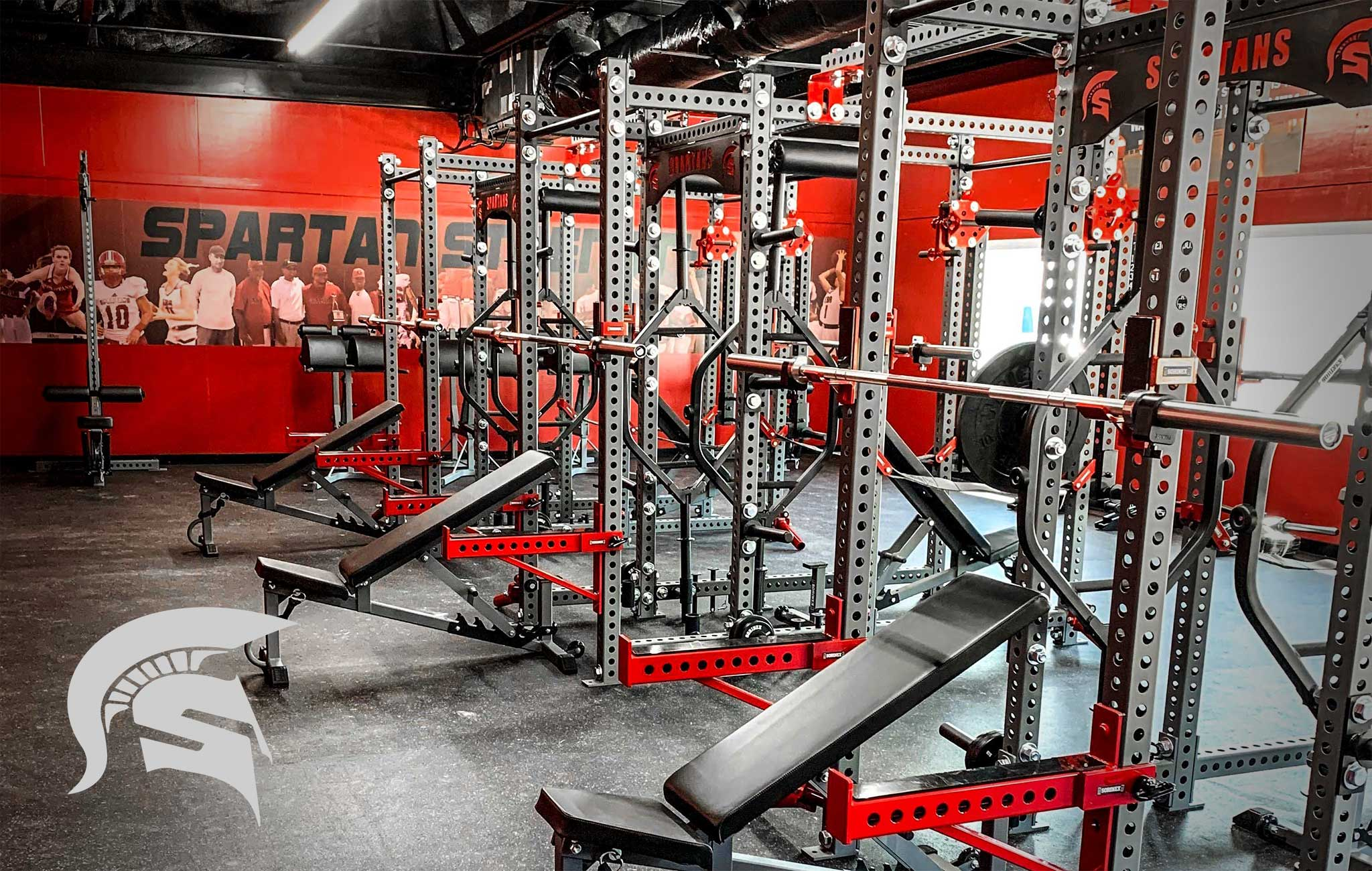 Edmund Burke High School Sorinex strength and conditioning facility