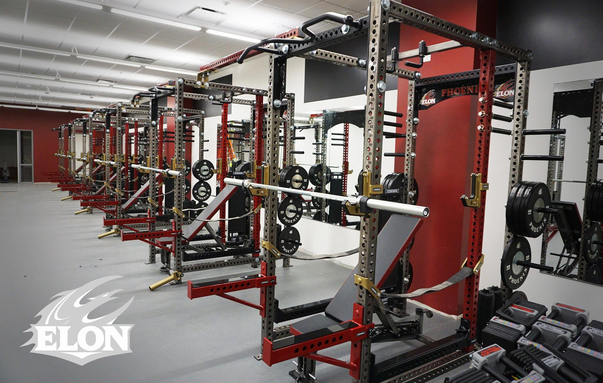 Elon University Sorinex strength and conditioning facility