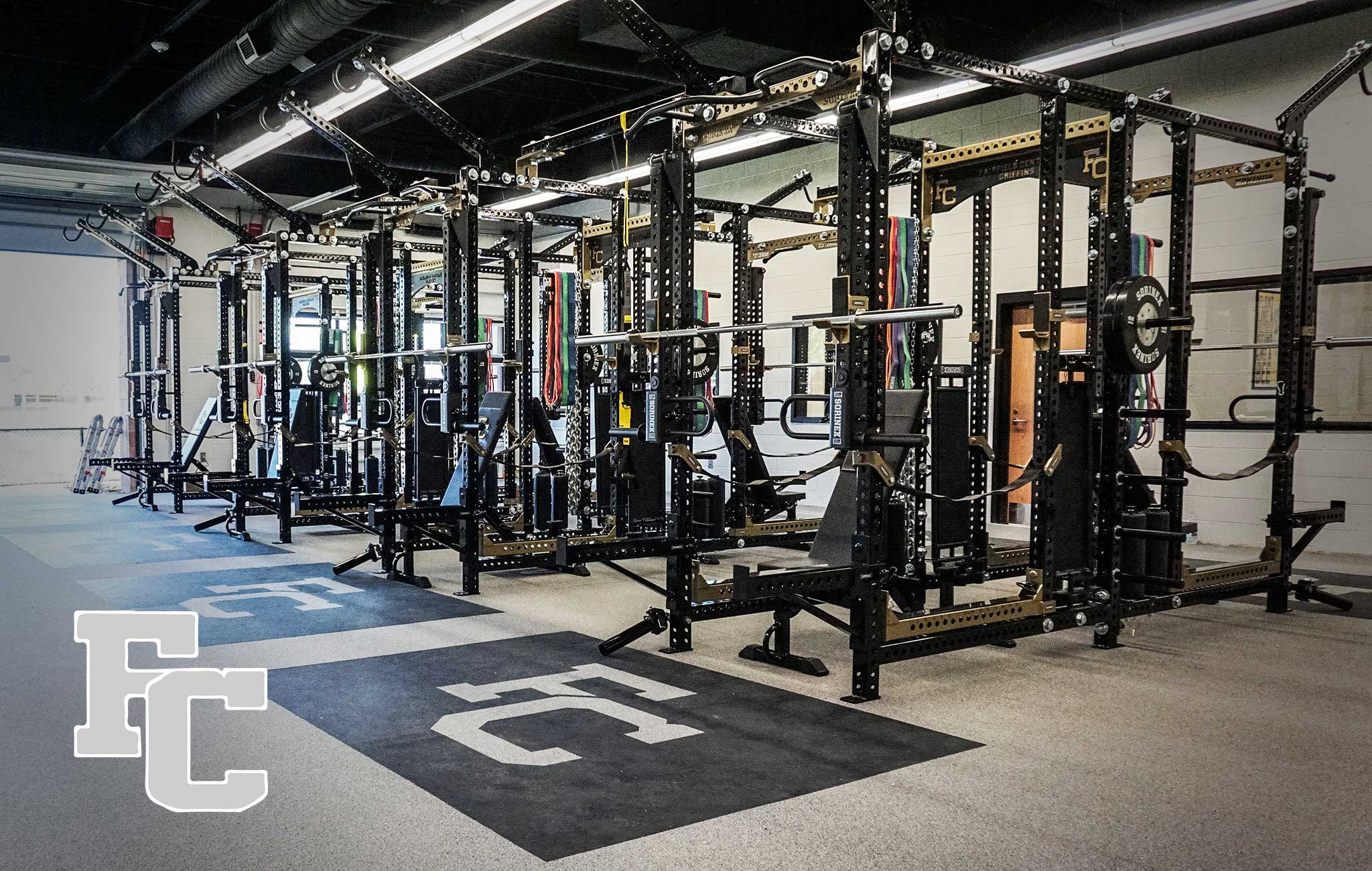 Fairfield Central High School Sorinex strength and conditioning facility
