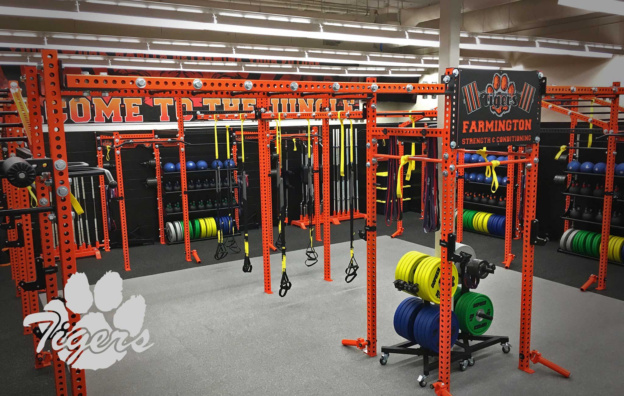 Farmington high school Sorinex strength and conditioning facility