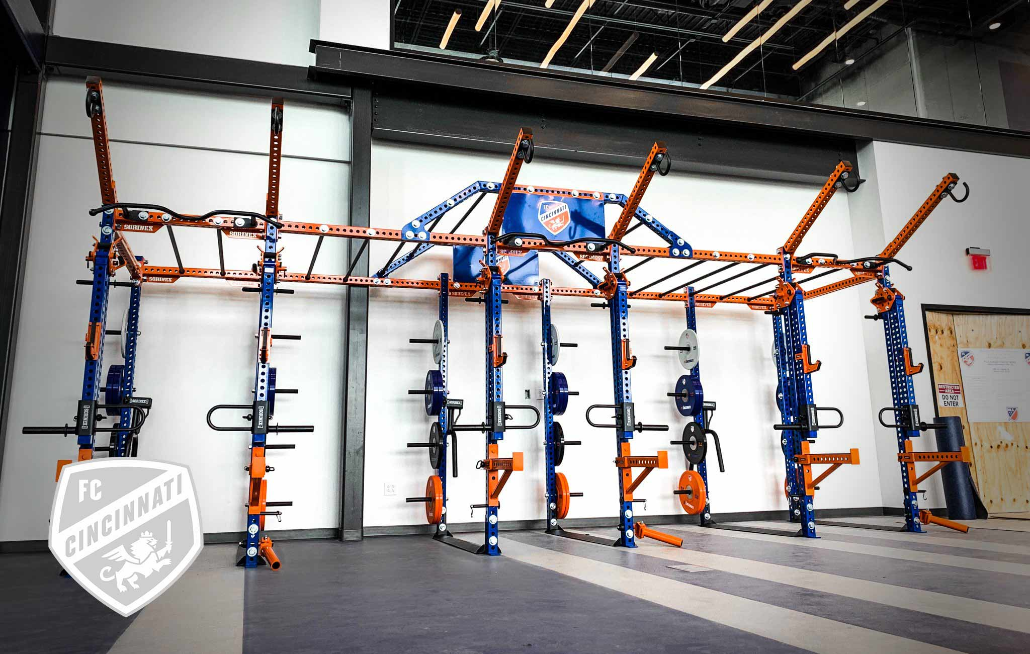 FC Cincinnati Sorinex strength and conditioning facility