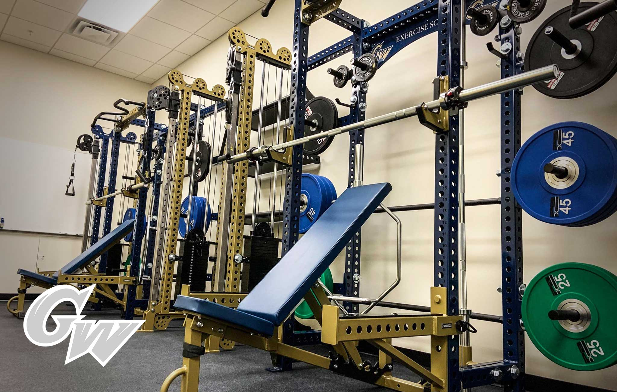George Washington University Sorinex strength and conditioning facility