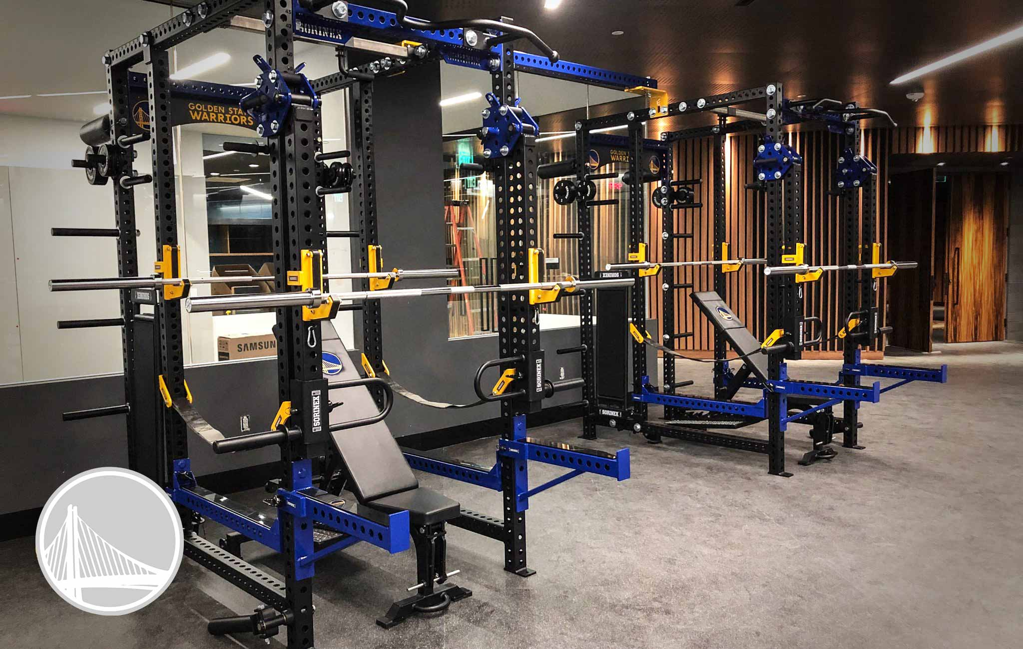 Golden State Warriors Sorinex strength and conditioning facility
