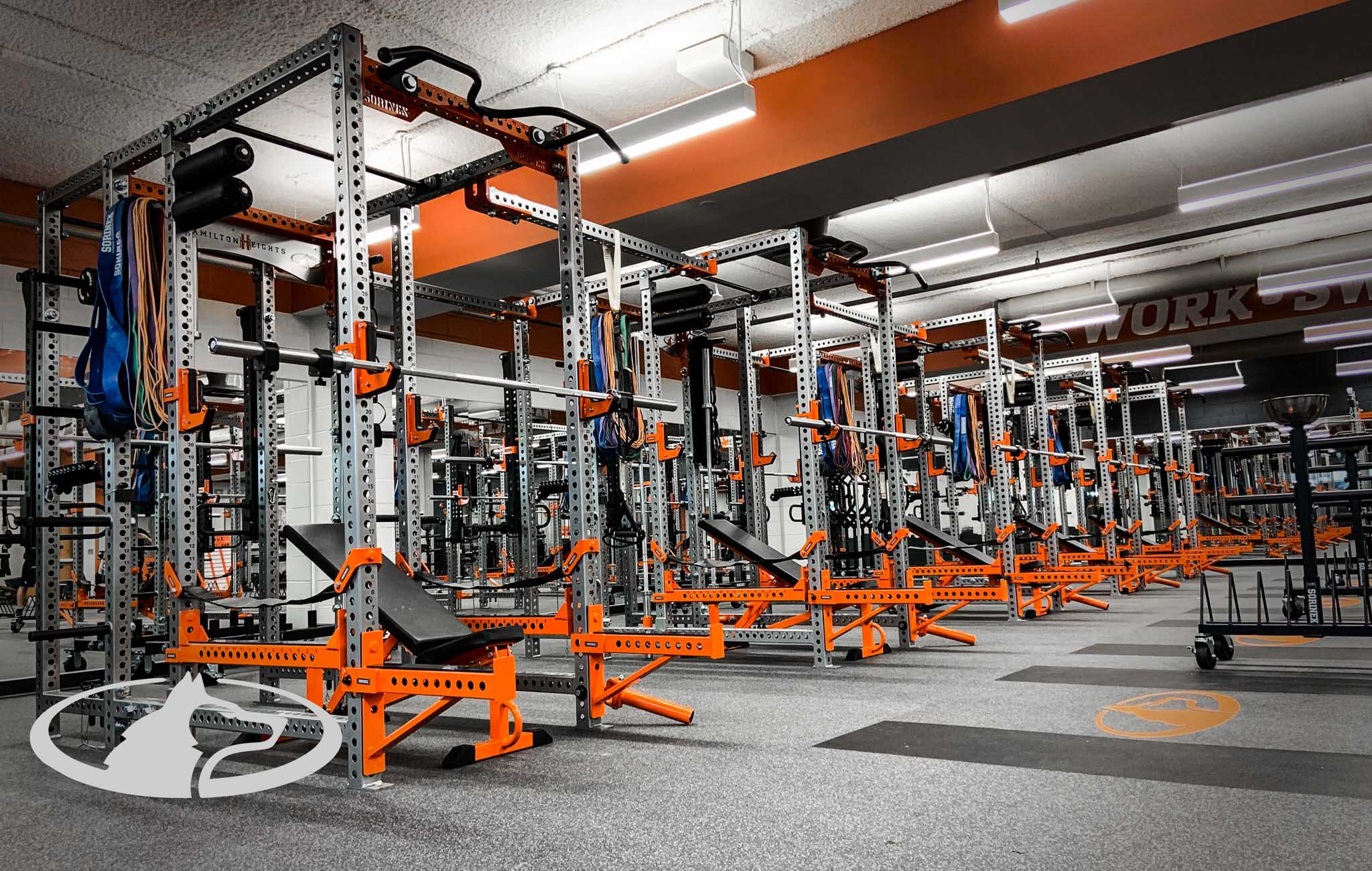 Hamilton Heights High School Sorinex strength and conditioning facility