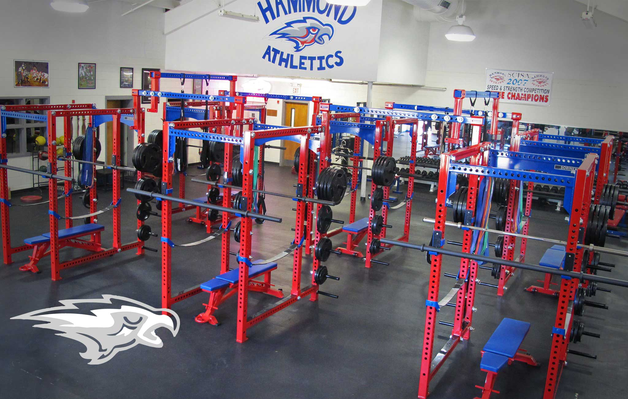 Hammond school Sorinex strength and conditioning facility