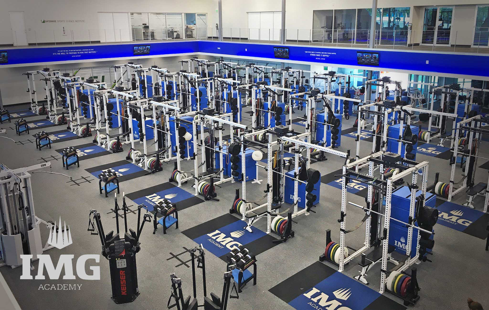IMG Academy Sorinex strength and conditioning facility