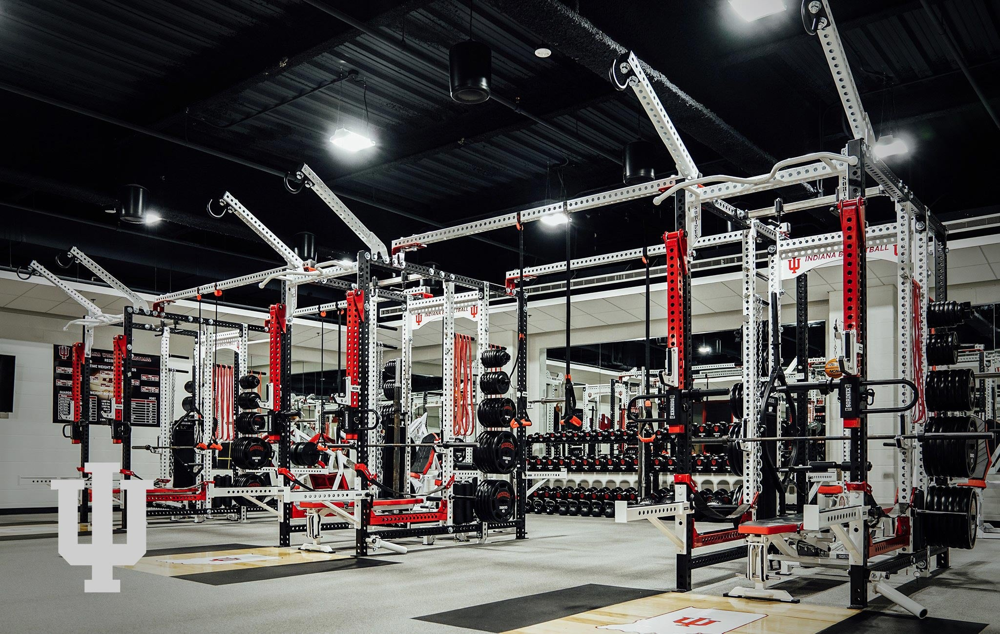 Indiana University Sorinex strength and conditioning facility