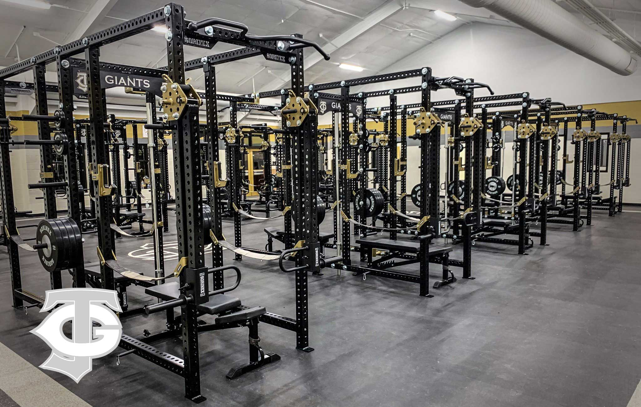 Jena High School Sorinex strength and conditioning facility