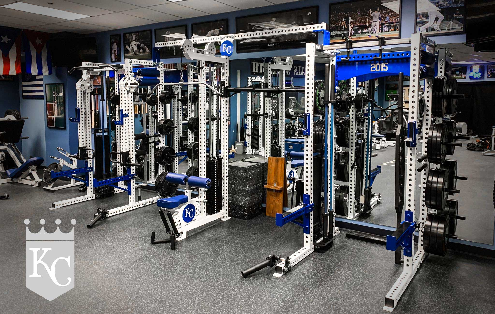 Kansas City Royals Sorinex strength and conditioning facility