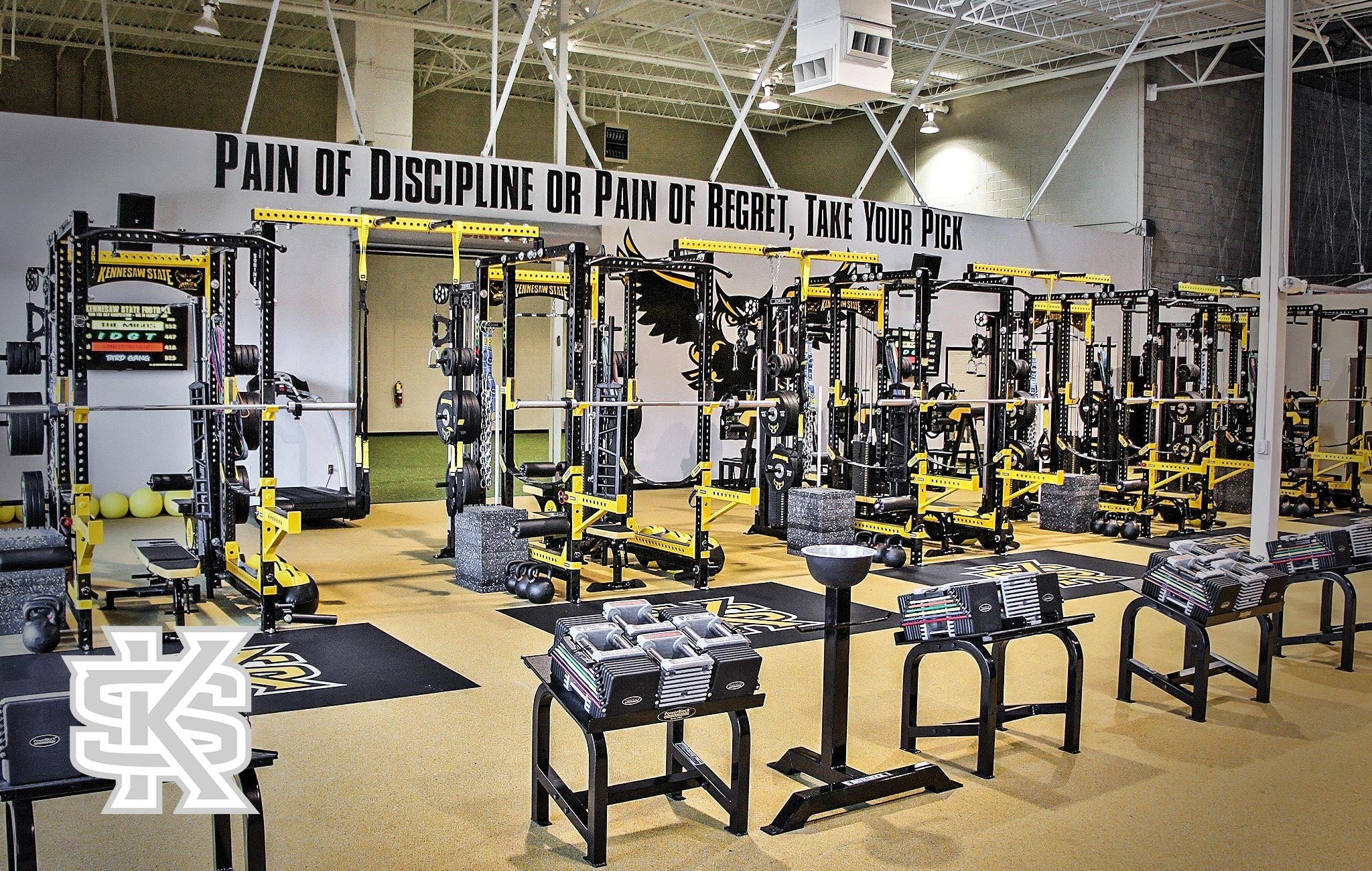 Kennesaw State Sorinex strength and conditioning facility