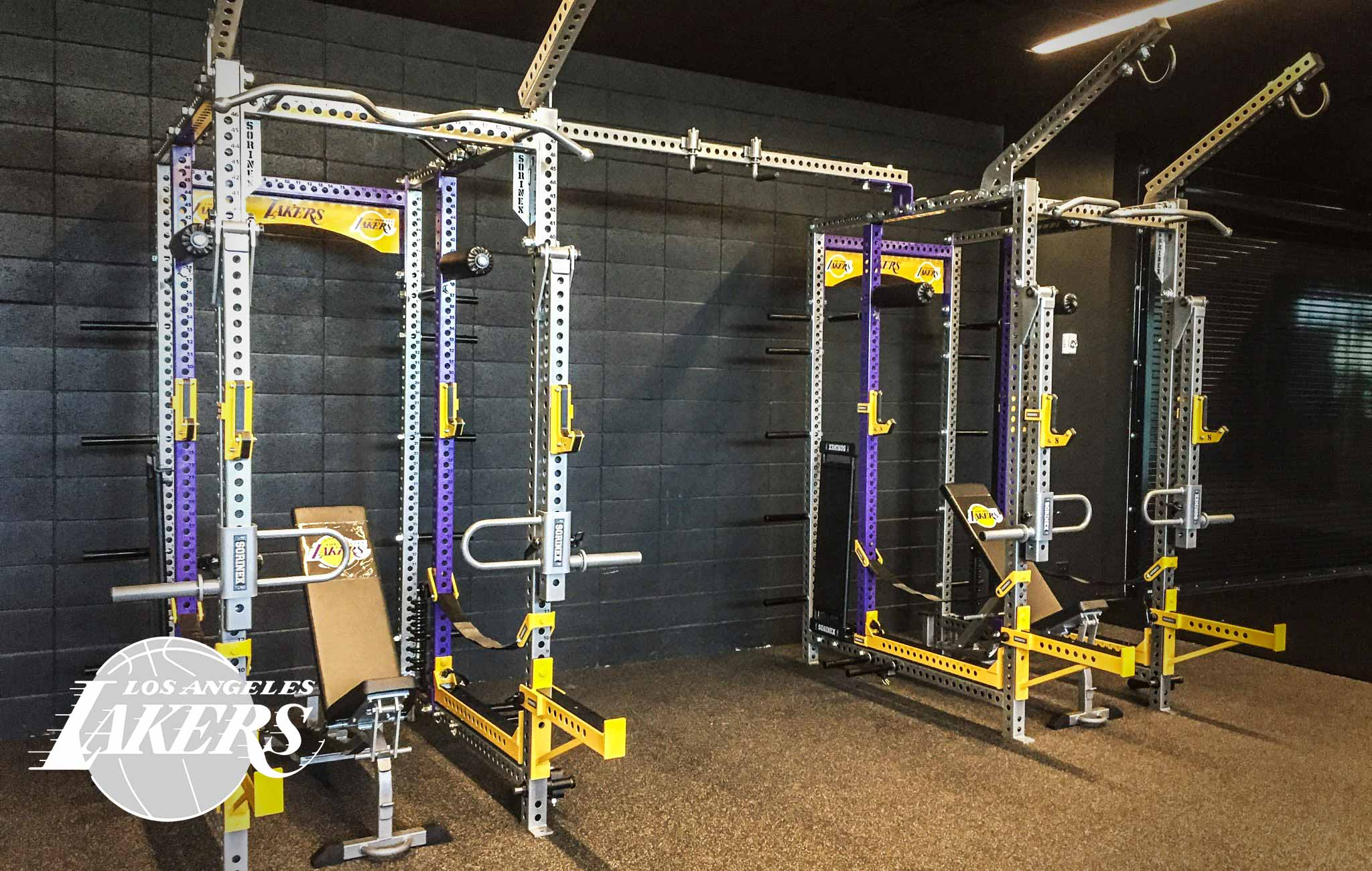 Los Angeles Lakers Sorinex strength and conditioning facility