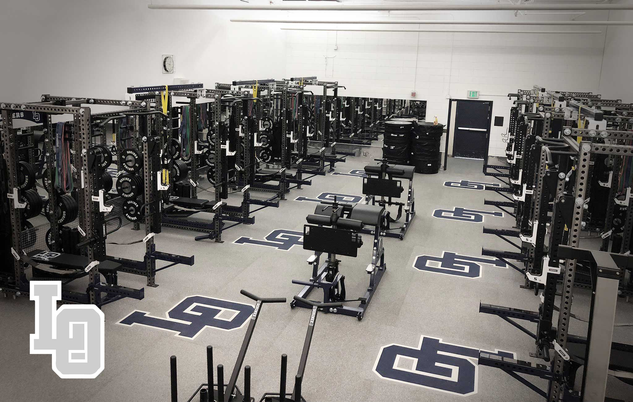 Lake Oswego high school Sorinex strength and conditioning facility
