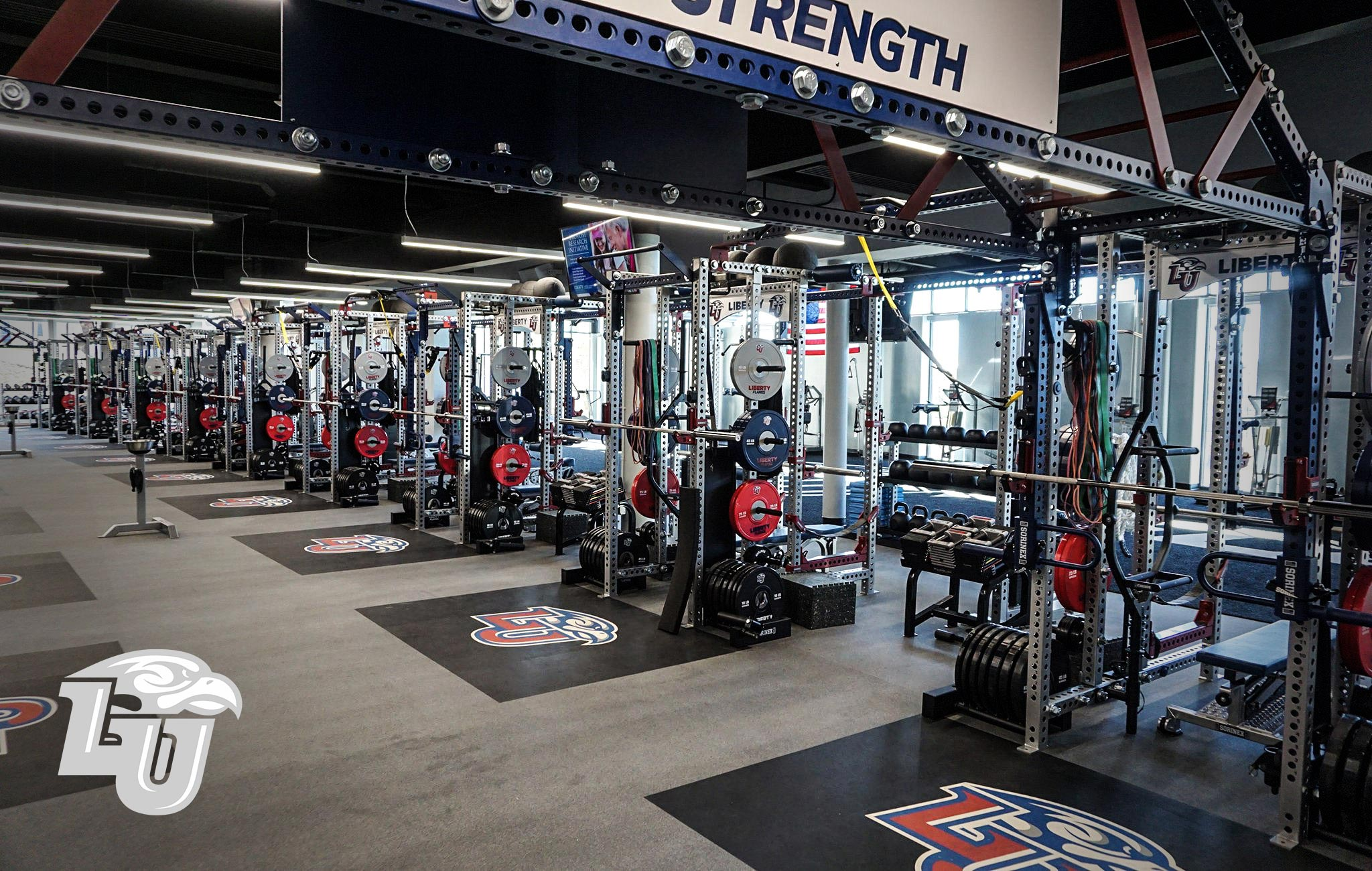 Liberty University Sorinex strength and conditioning facility