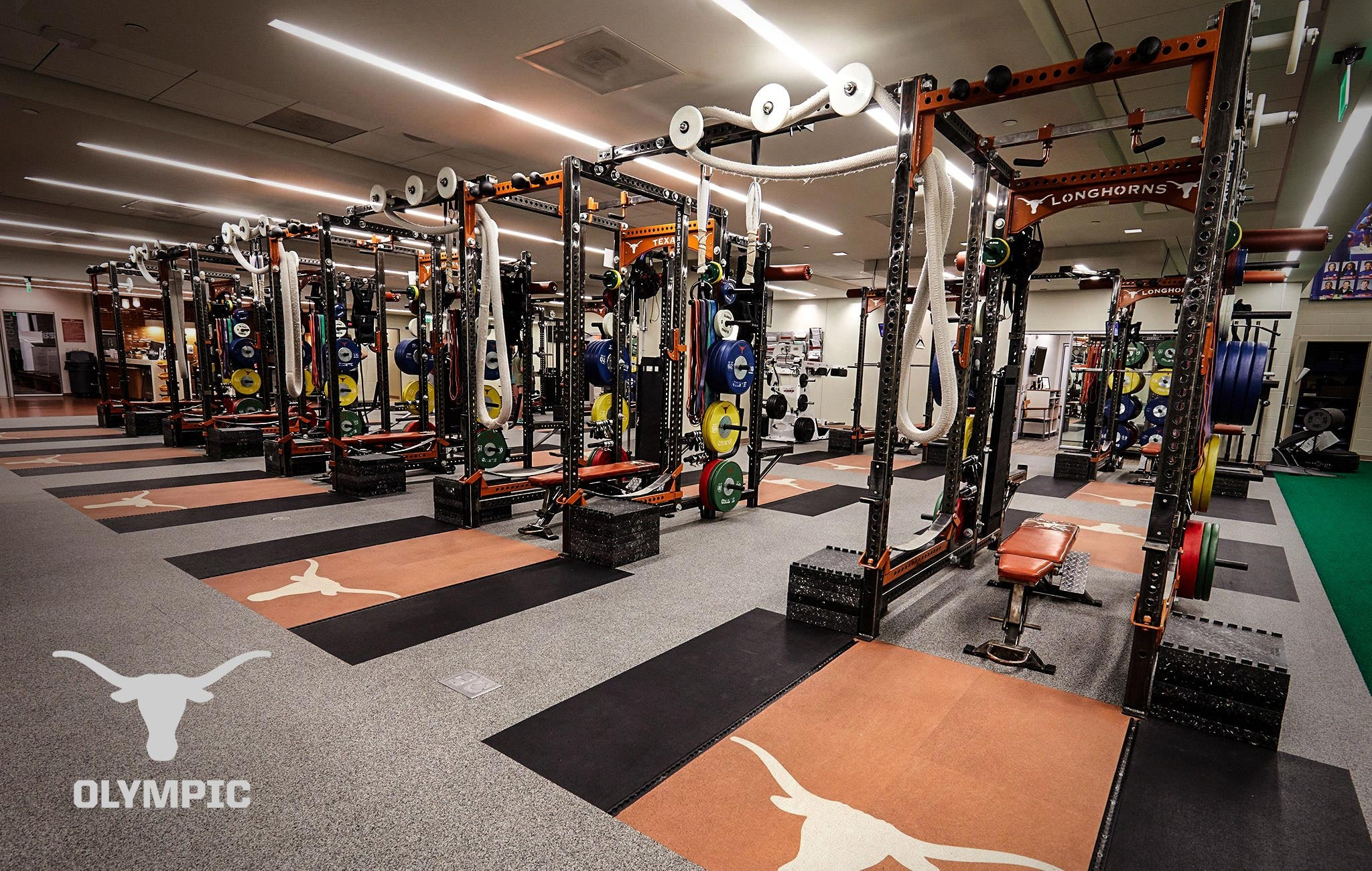 Texas Longhorn Olympic Sorinex strength and conditioning facility