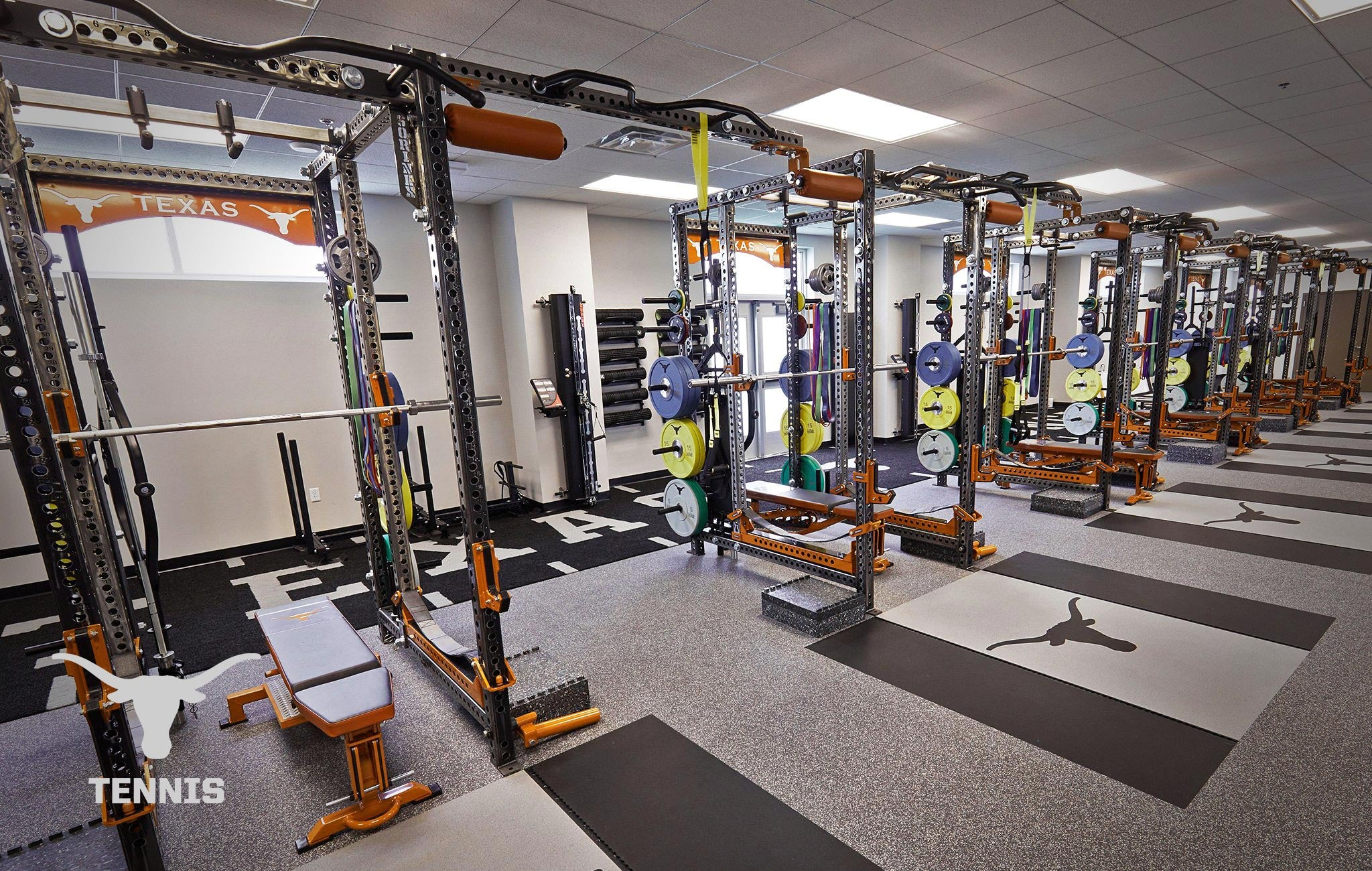 Texas Longhorn tennis Sorinex strength and conditioning facility