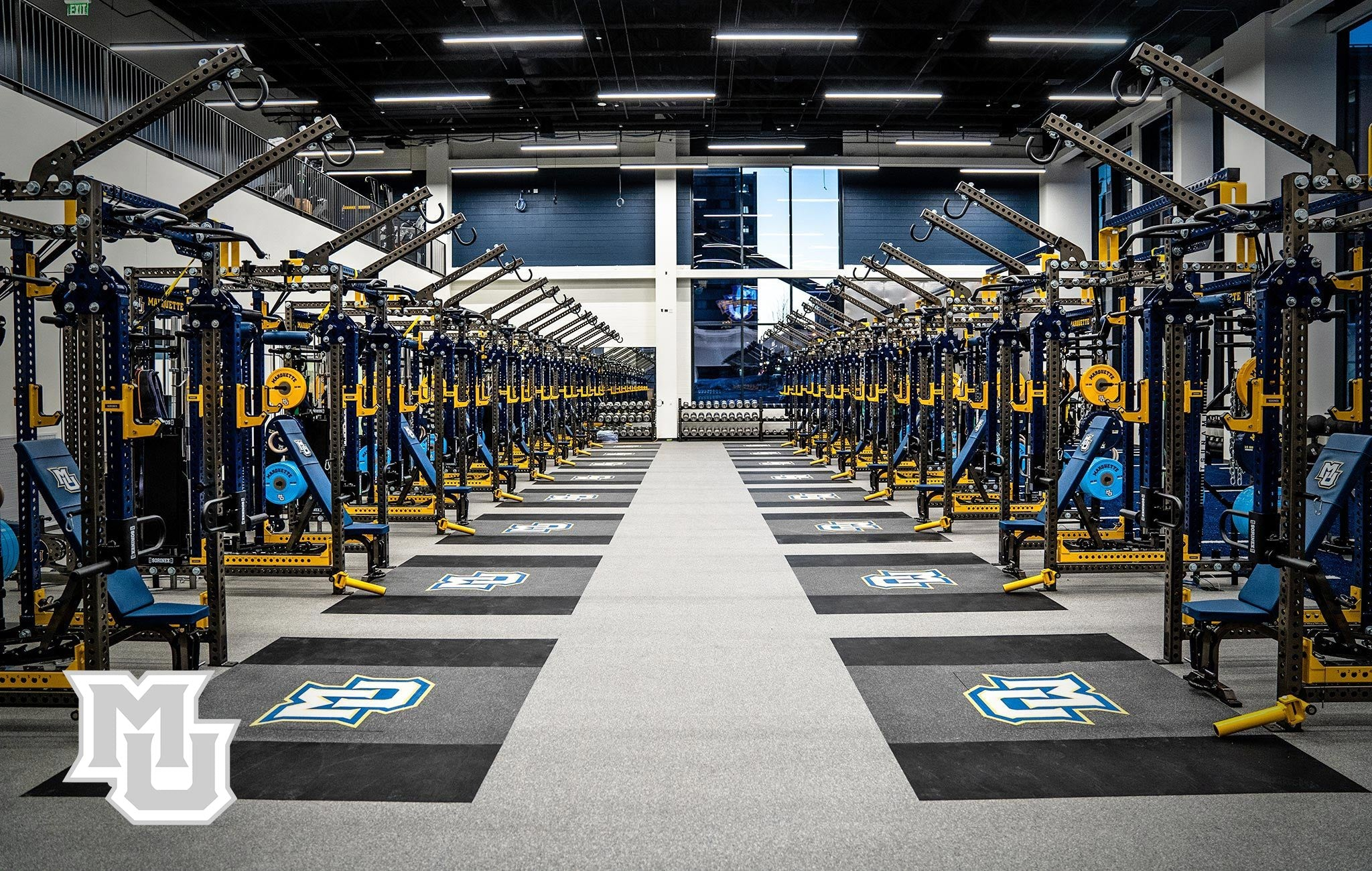 Marquette University Sorinex strength and conditioning facility