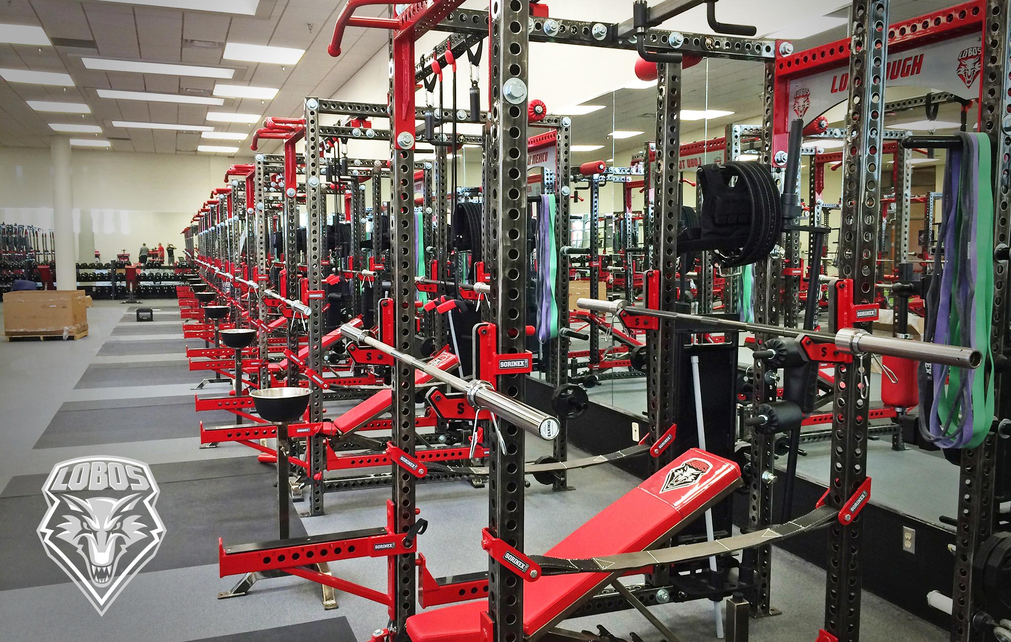 New Mexico University Sorinex strength and conditioning facility