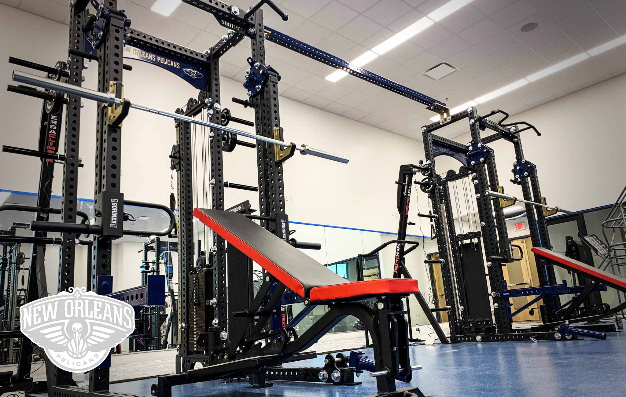 New Orleans Pelicans Sorinex strength and conditioning facility