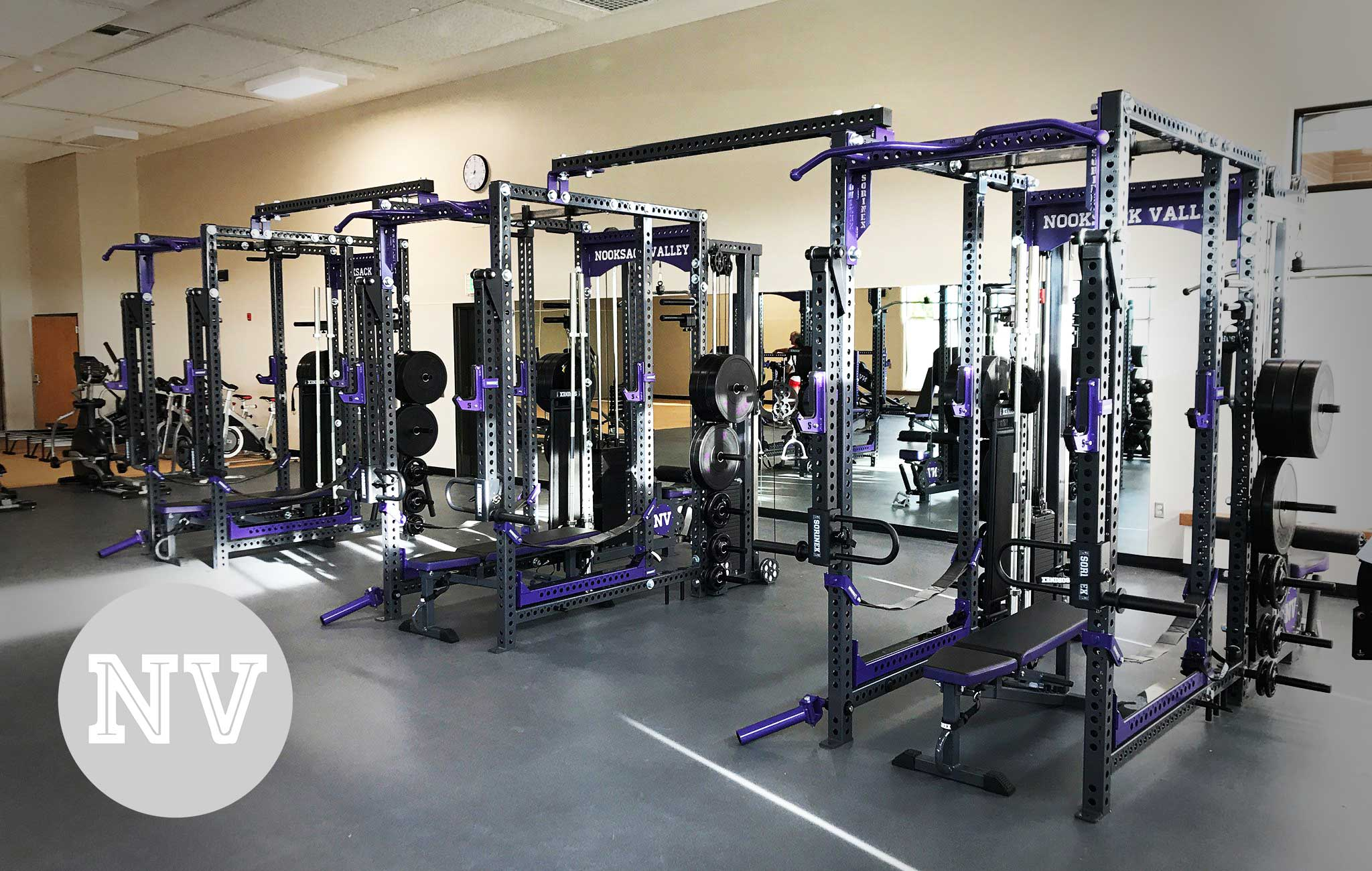 Nooksack High School Sorinex strength and conditioning facility