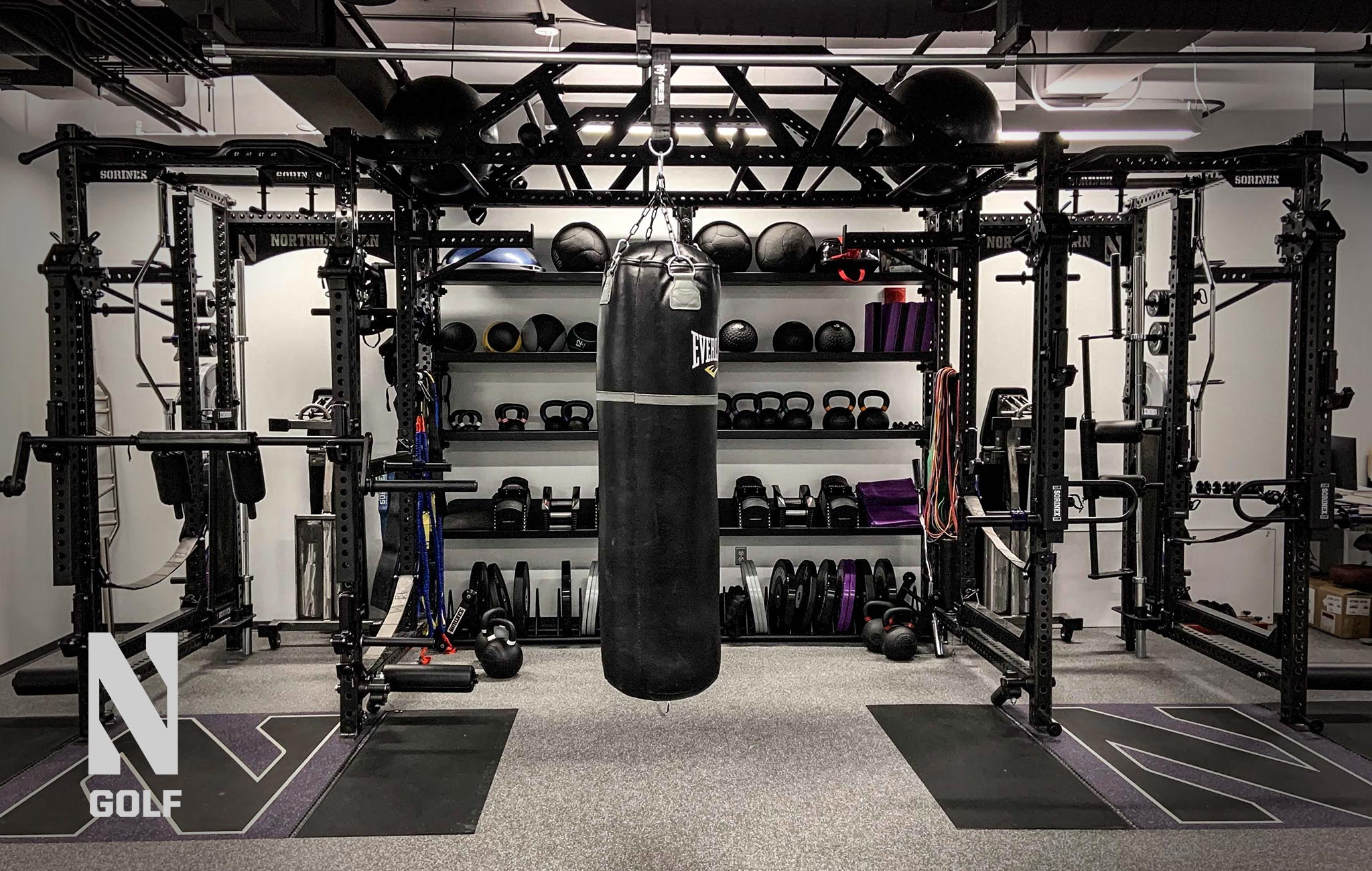 Northwestern University golf Sorinex strength and conditioning facility