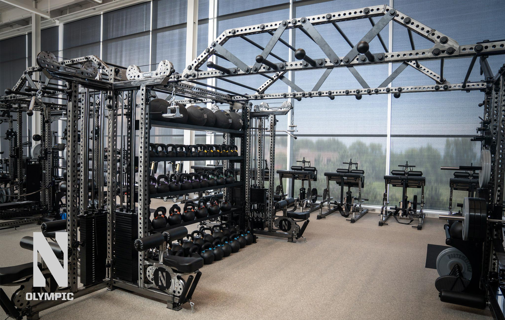 Northwestern University olympic Sorinex strength and conditioning facility