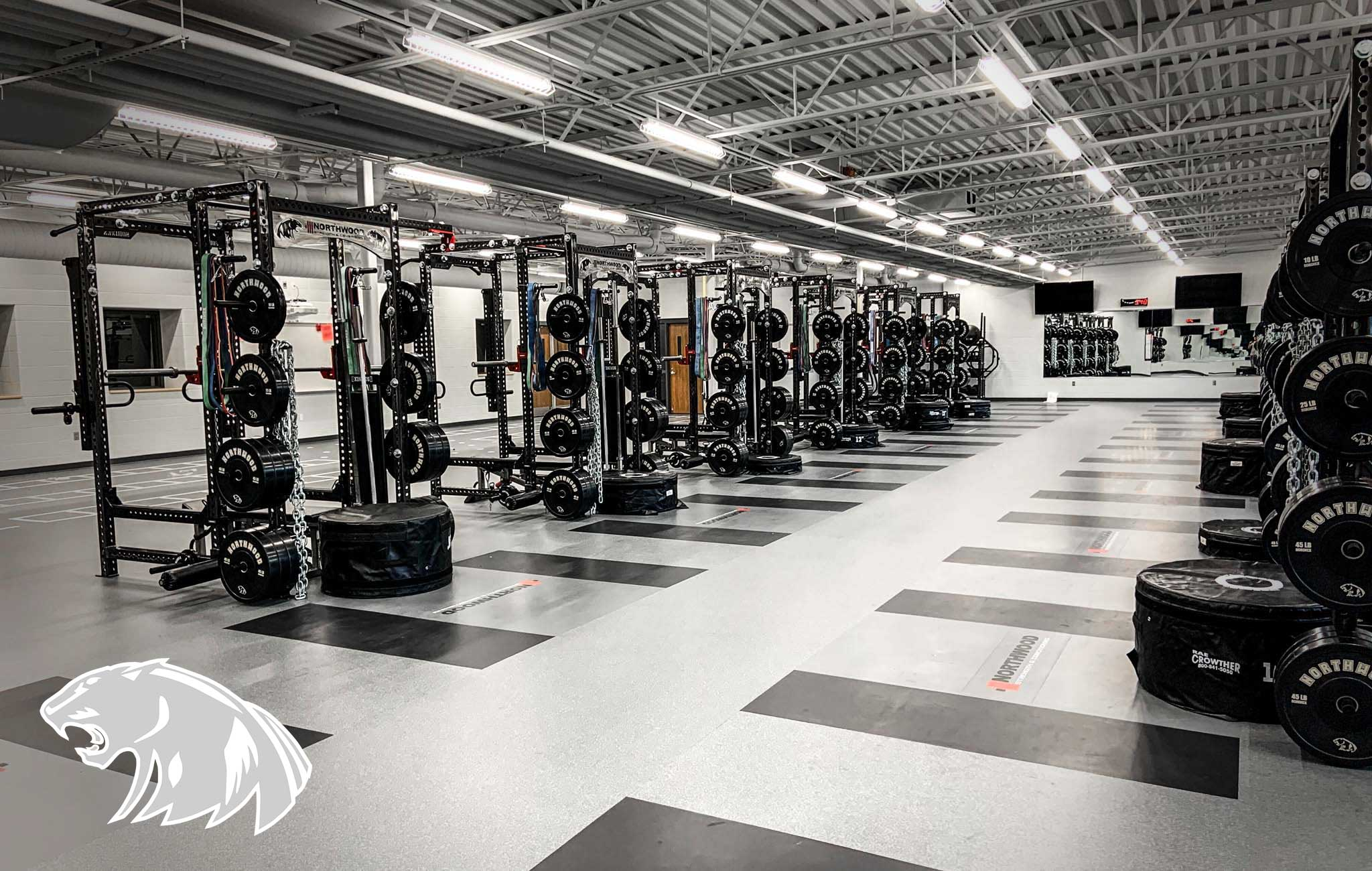 Northwood high school Sorinex strength and conditioning facility