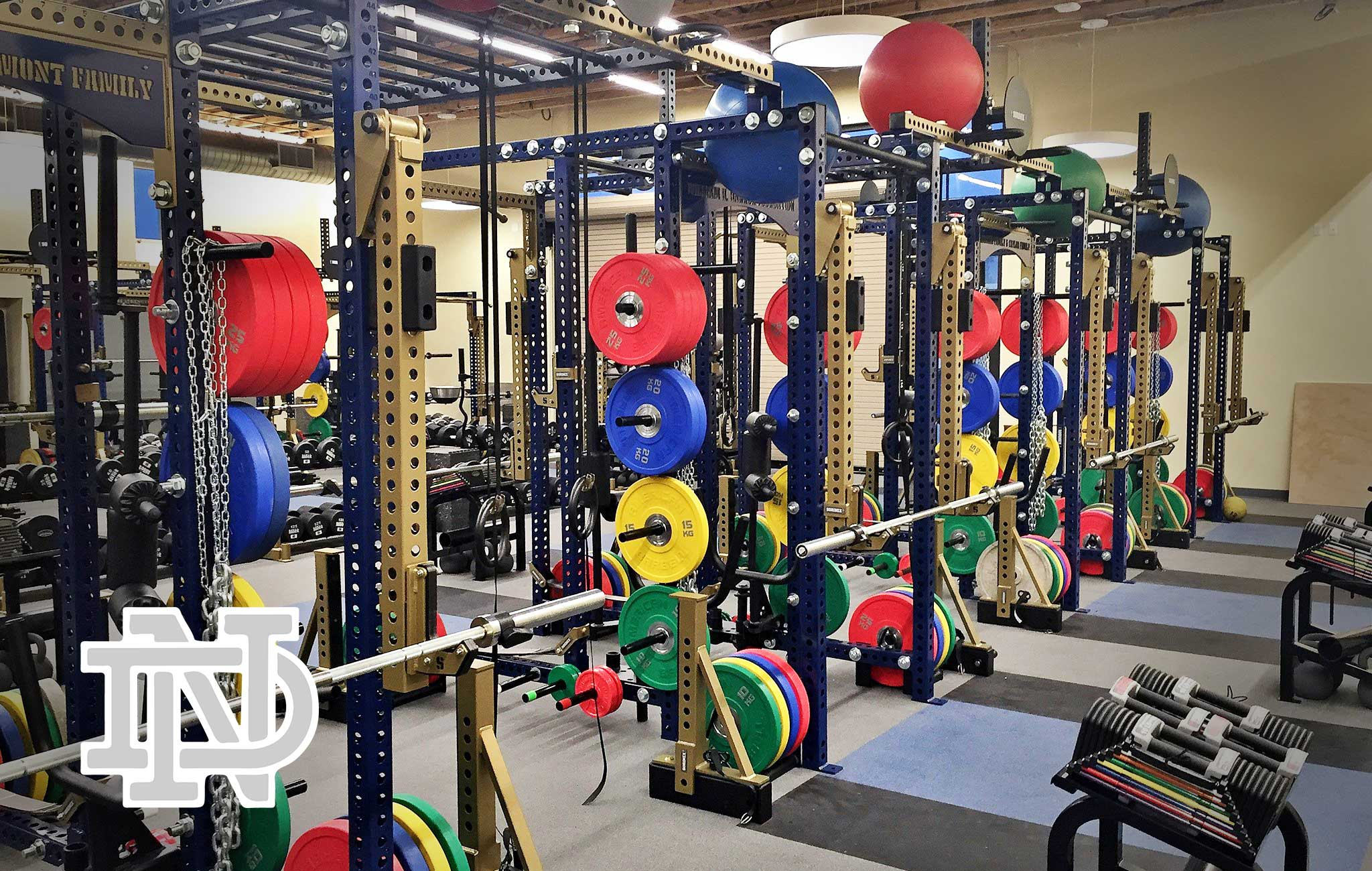 Notre Dame high school Sorinex strength and conditioning facility
