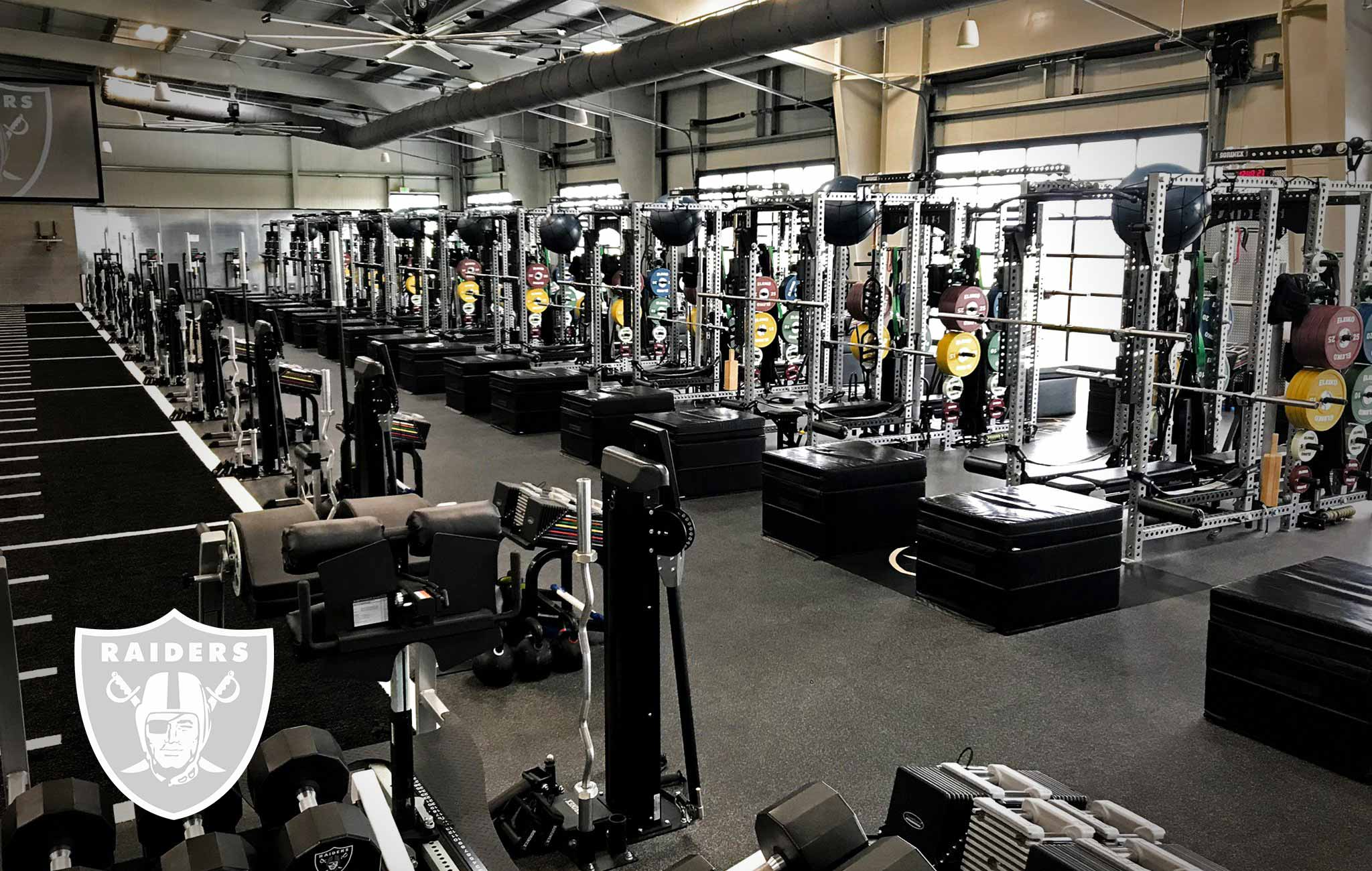 Oakland Raiders Sorinex strength and conditioning facility