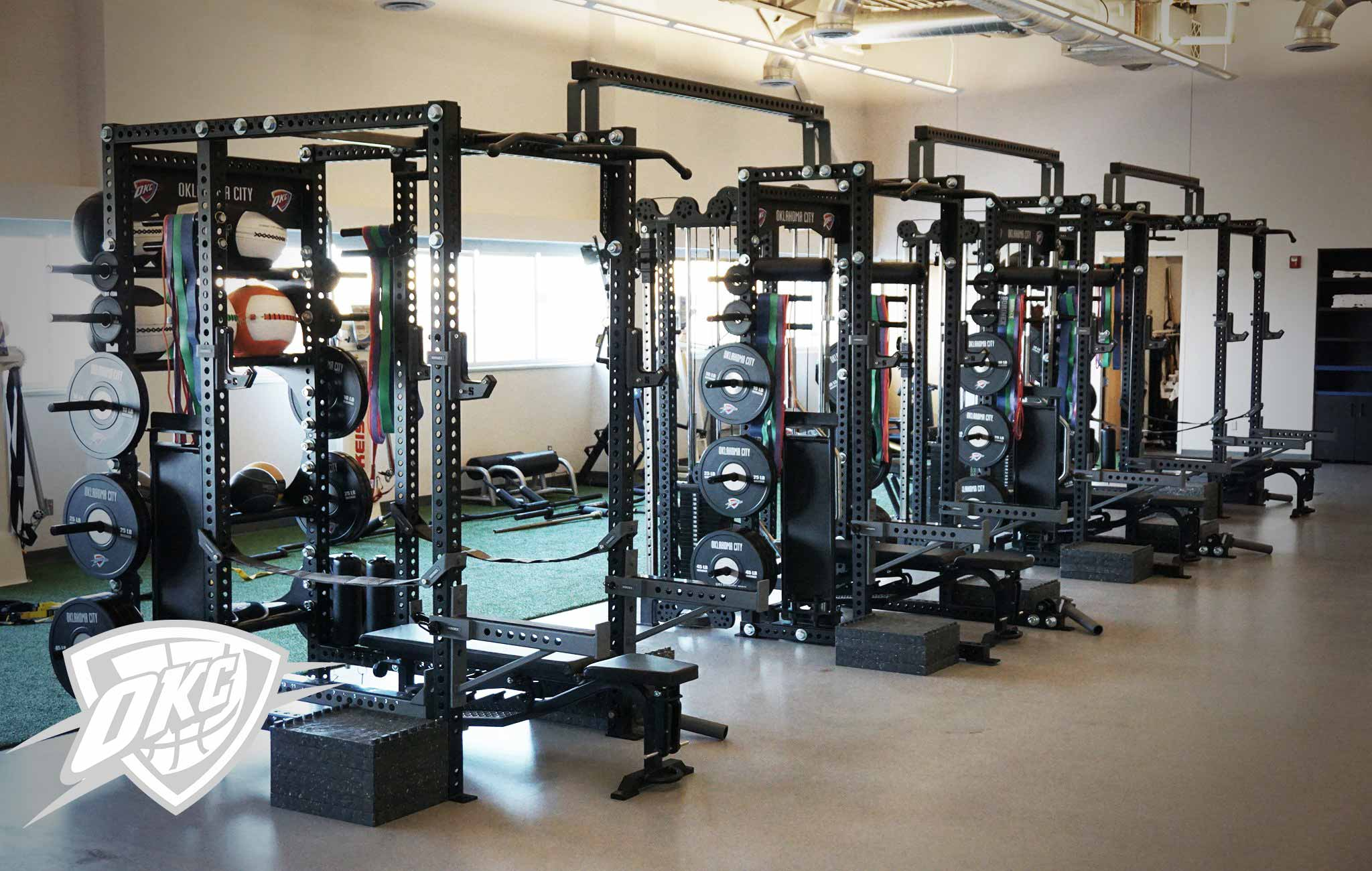 Oklahoma City Thunder Sorinex strength and conditioning facility