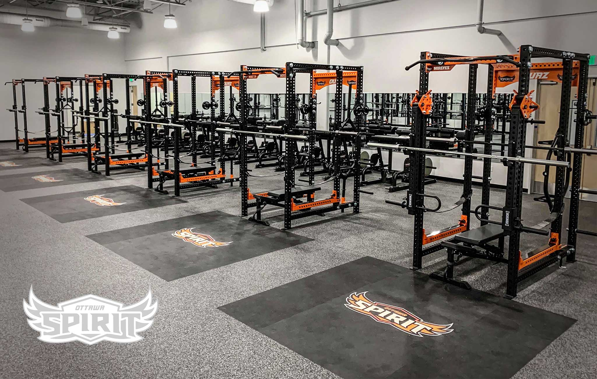 Ottawa University Sorinex strength and conditioning facility