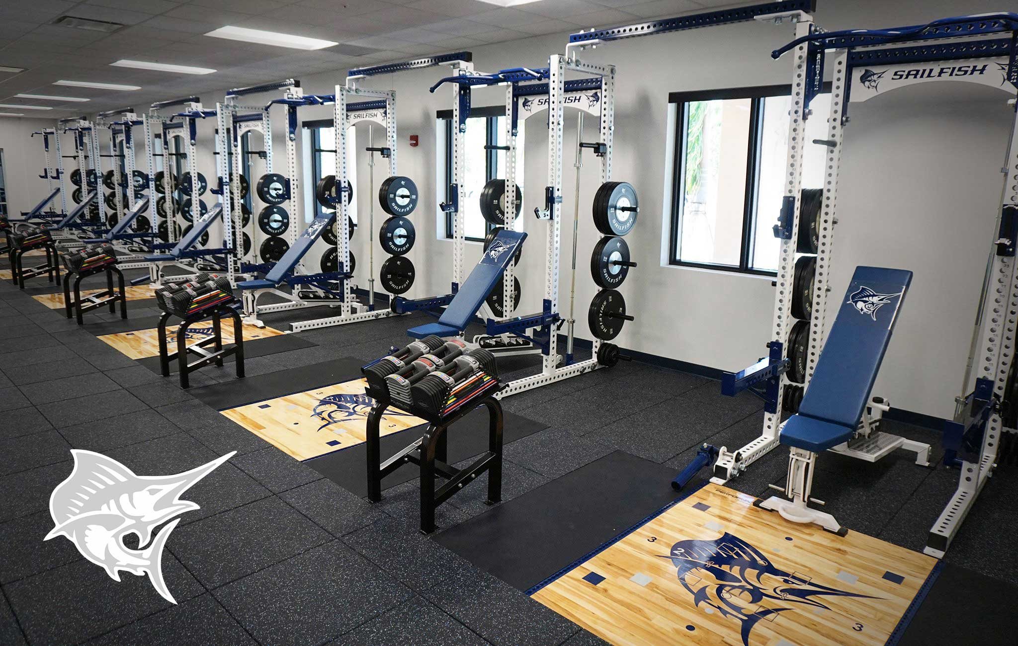 Palm Beach Atlantic University Sorinex strength and conditioning facility