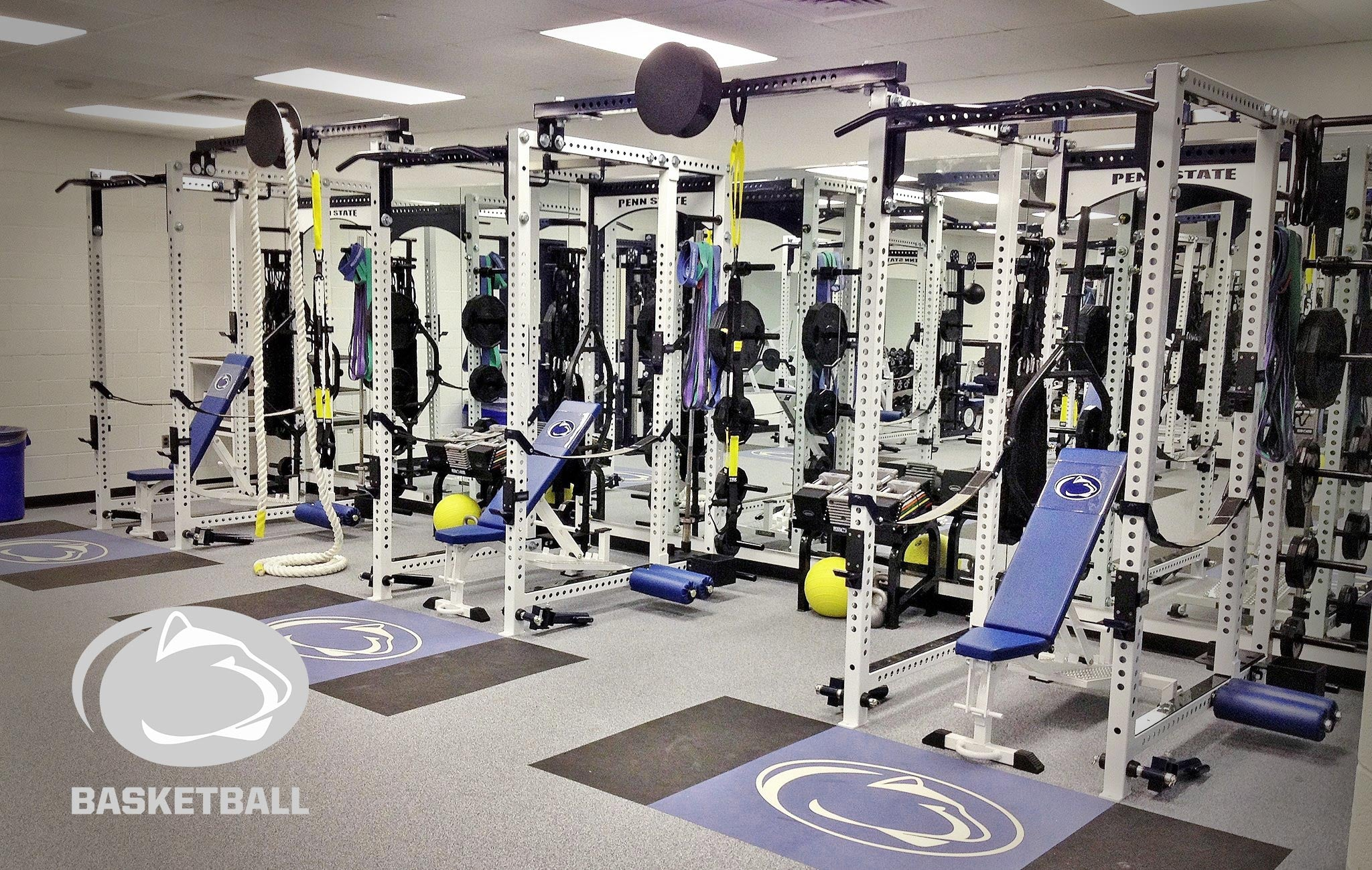 Penn State basketball University Sorinex strength and conditioning facility