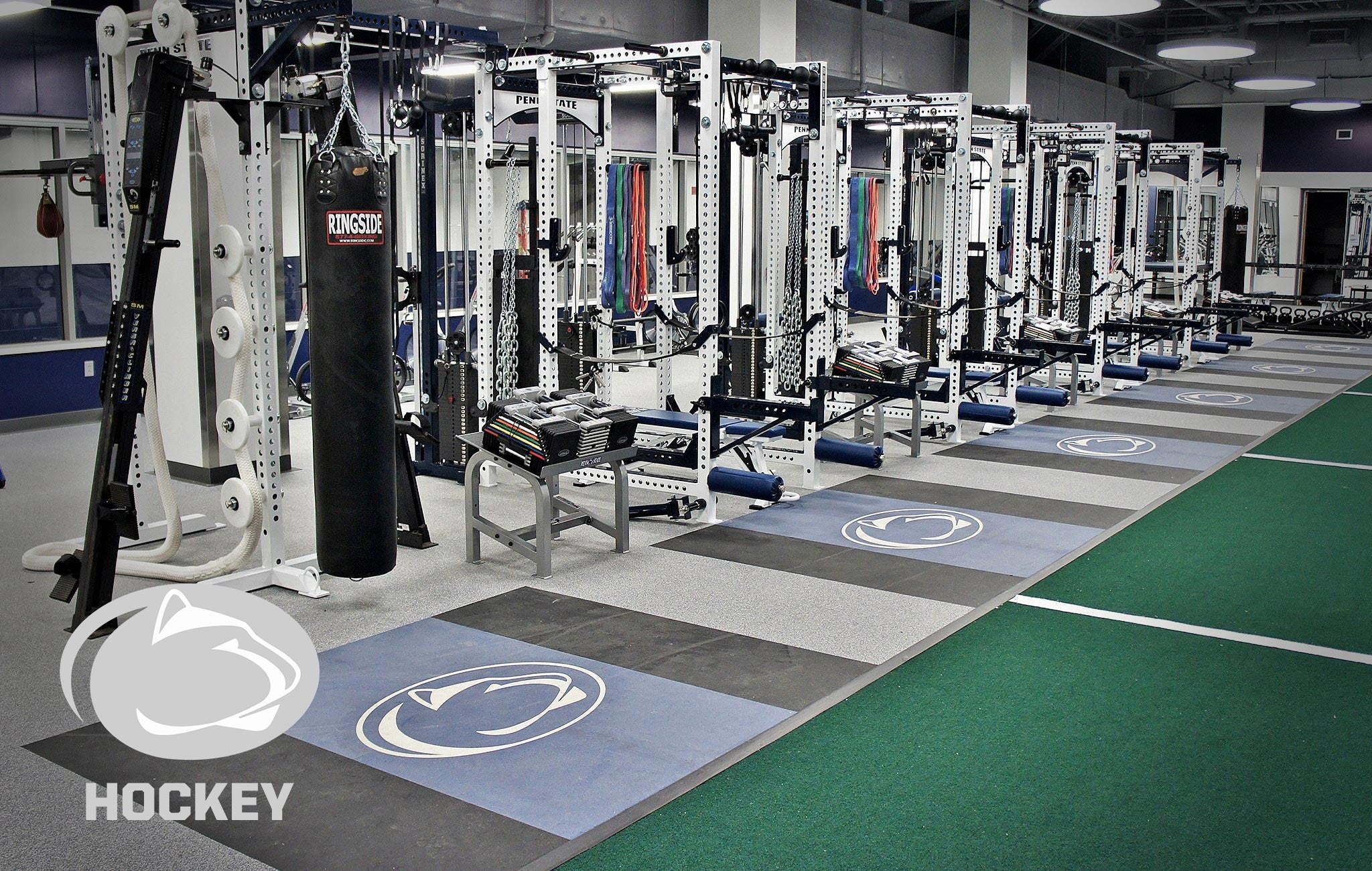 Penn State hockey Sorinex strength and conditioning facility