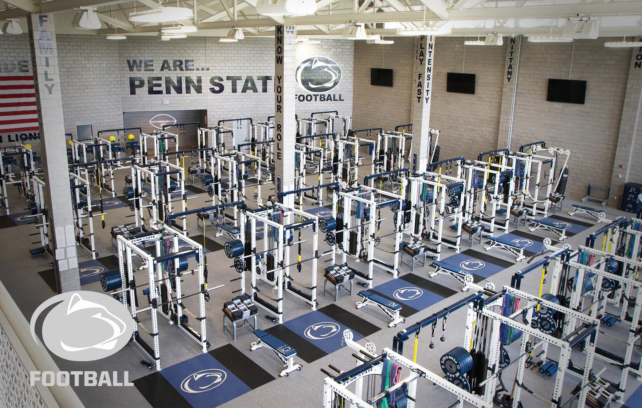Penn State Sorinex strength and conditioning facility