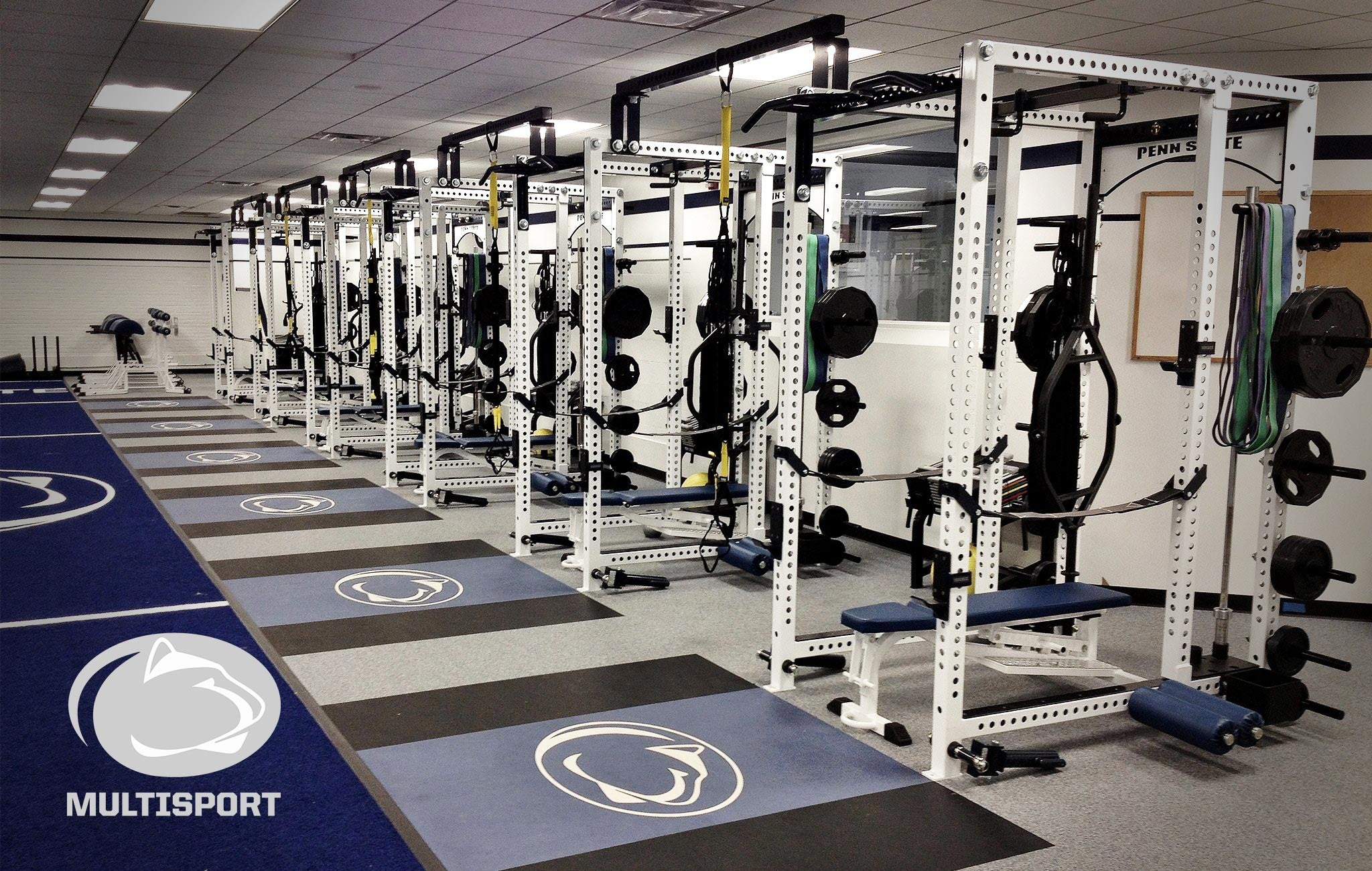 Penn State olympic Sorinex strength and conditioning facility