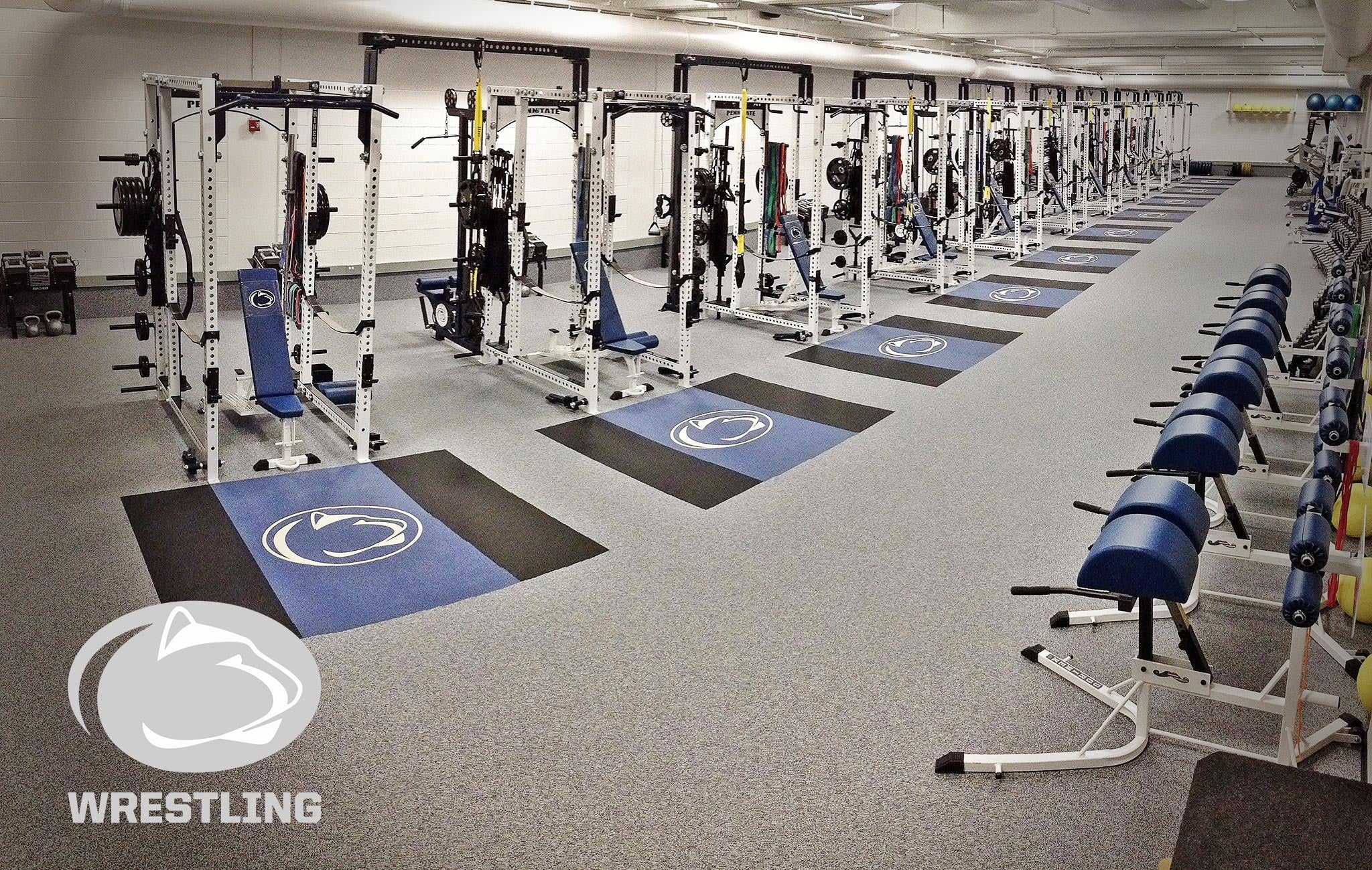 Penn State wrestling Sorinex strength and conditioning facility