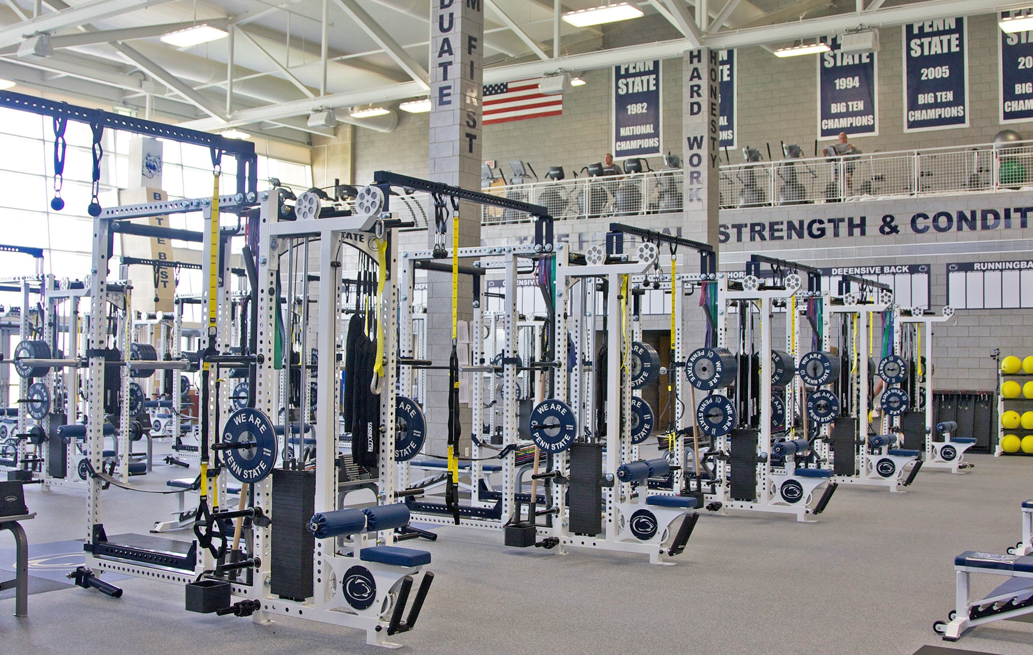 Penn State Football strength training facility