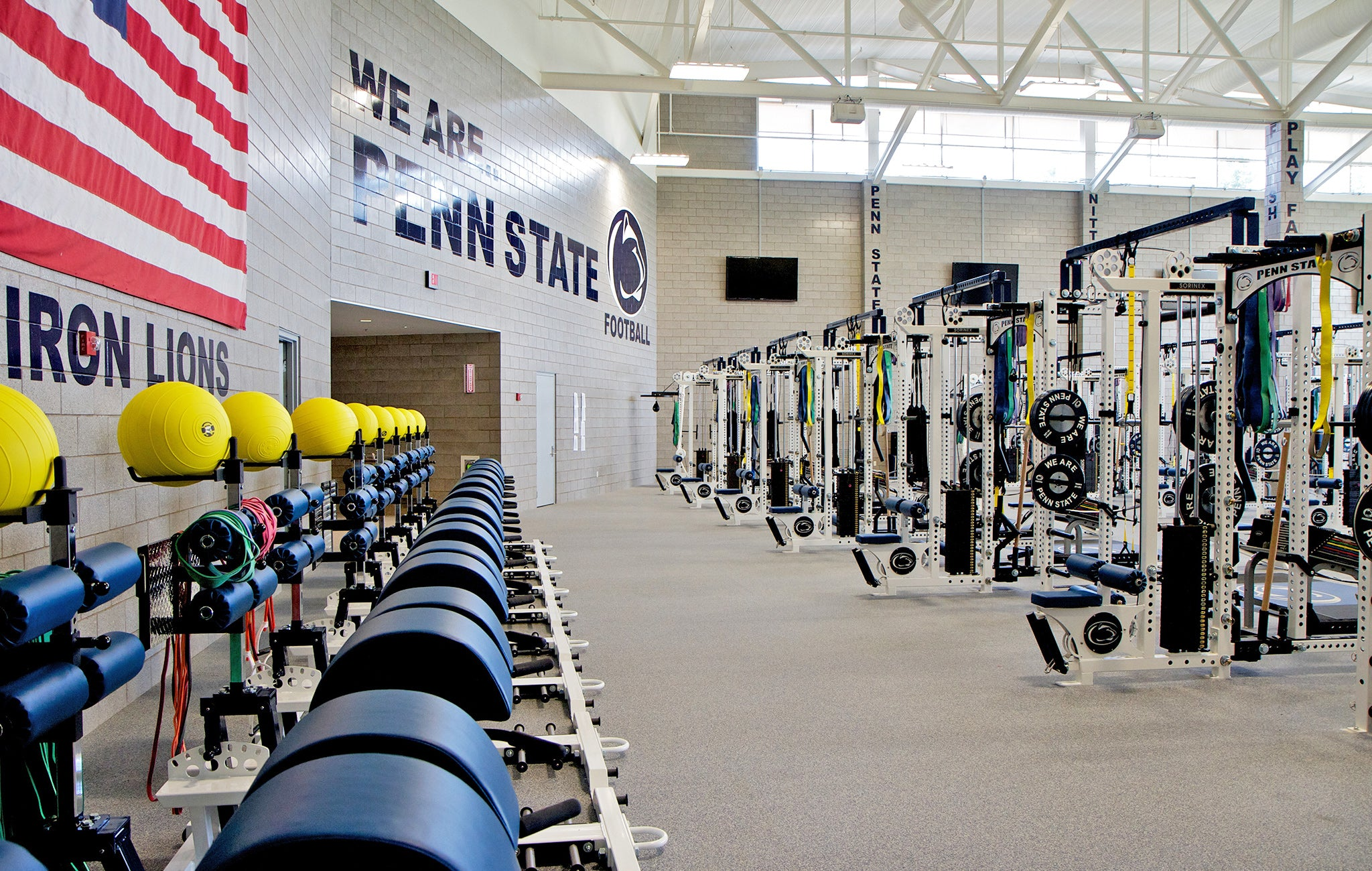 college football strength training facilities