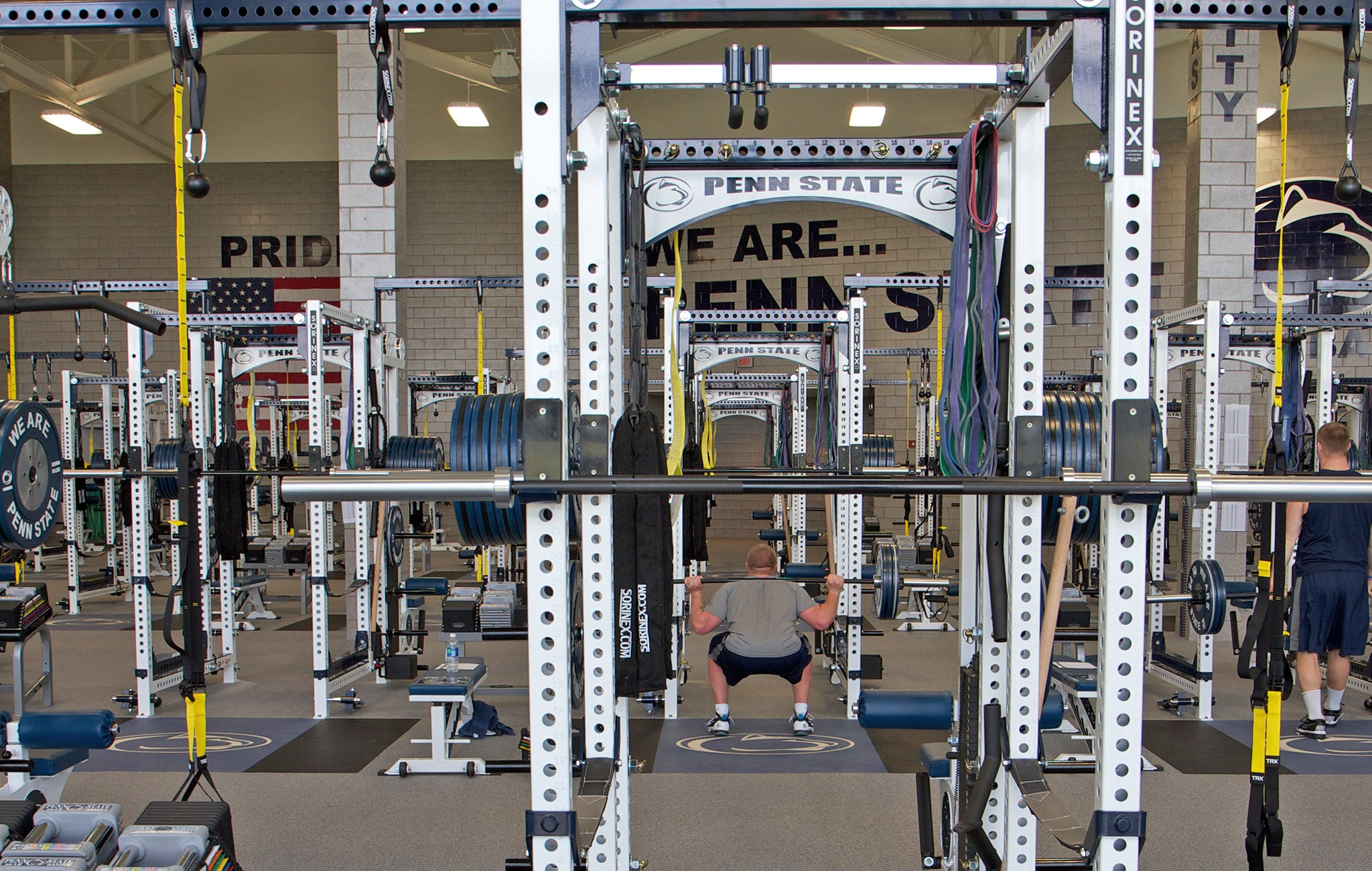 college football weight rooms