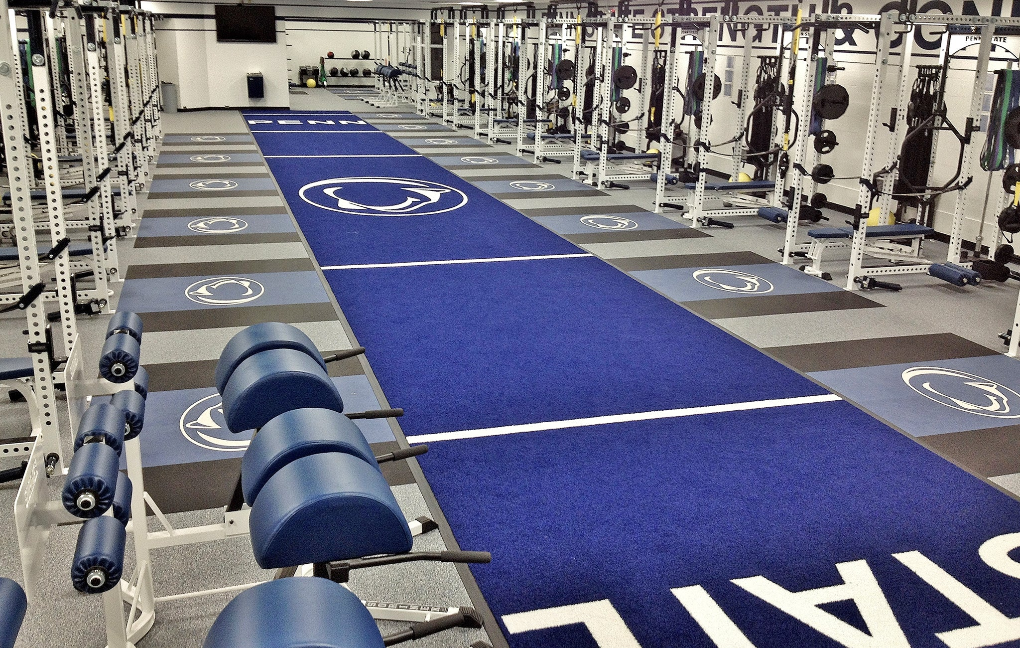 Penn state University multipart weight room
