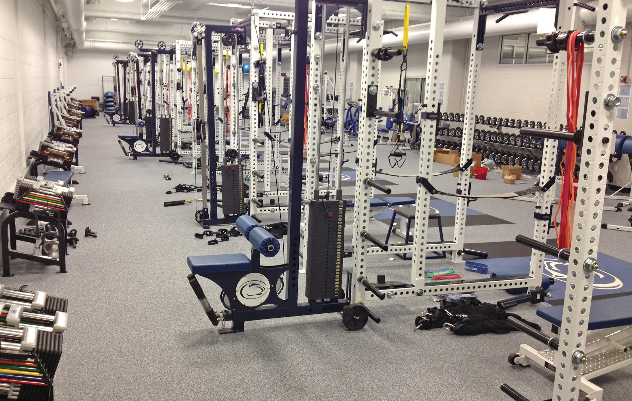 Penn State Wrestling strength training