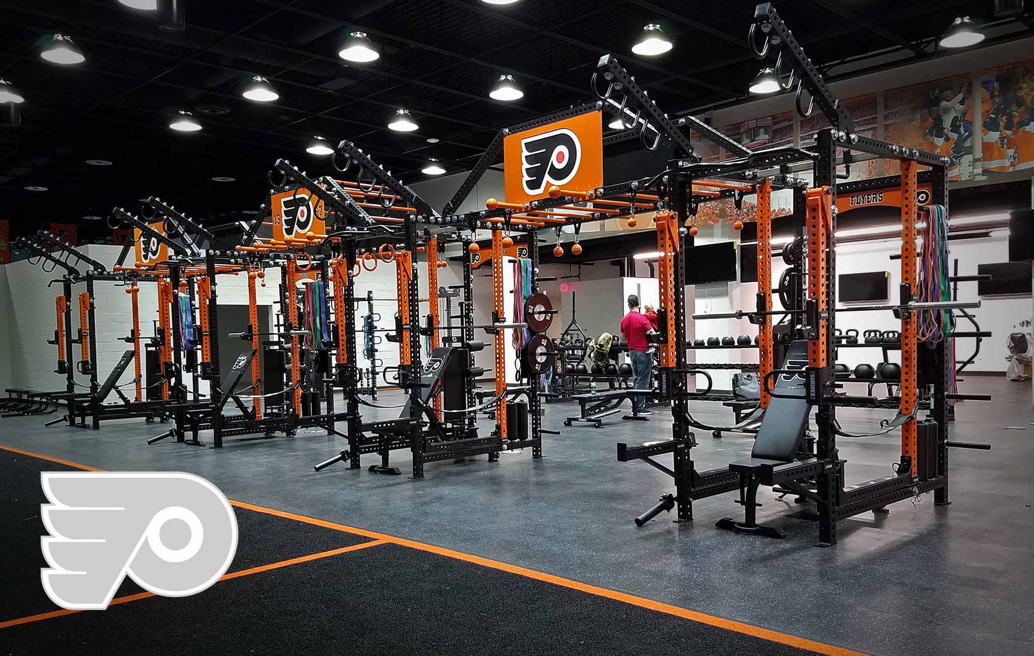 Philadelphia Flyers Sorinex strength and conditioning facility